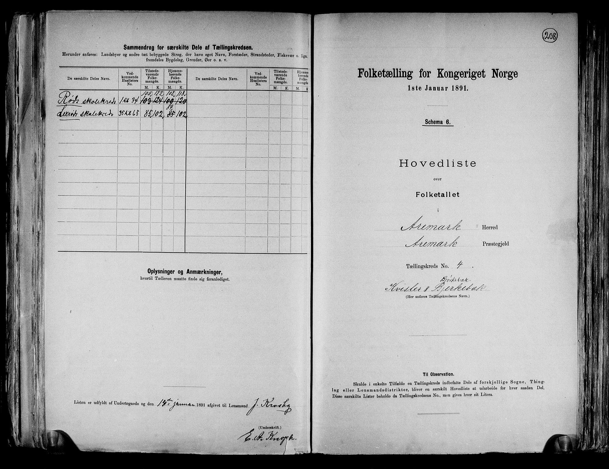 RA, Folketelling 1891 for 0118 Aremark herred, 1891, s. 12