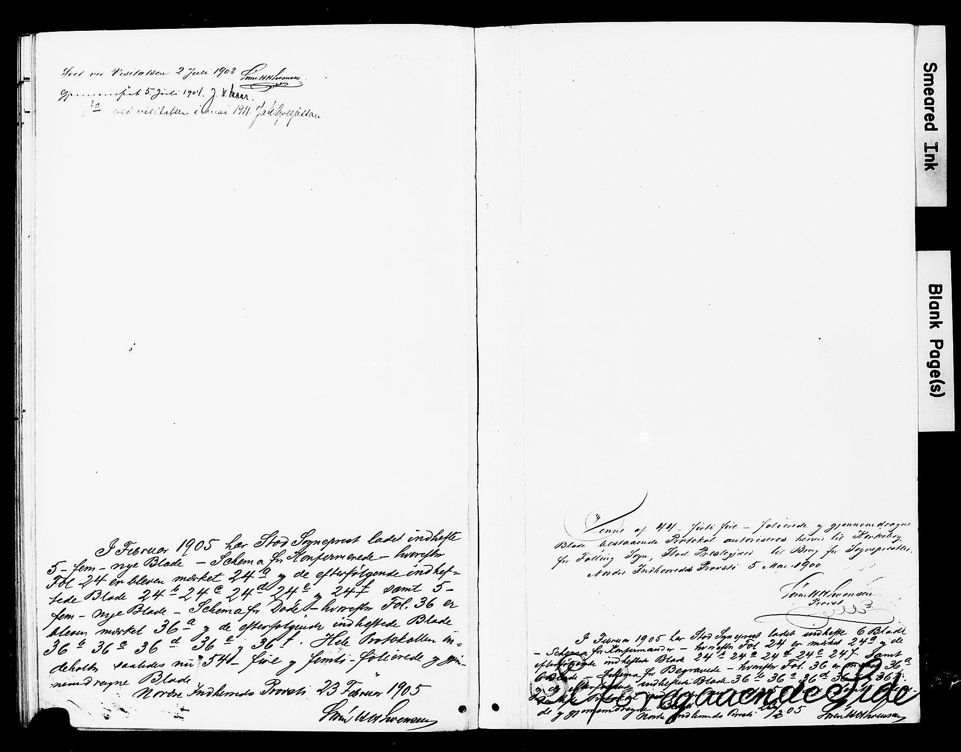 SAT, Ministerialprotokoller, klokkerbøker og fødselsregistre - Nord-Trøndelag, 748/L0464: Ministerialbok nr. 748A01, 1900-1908