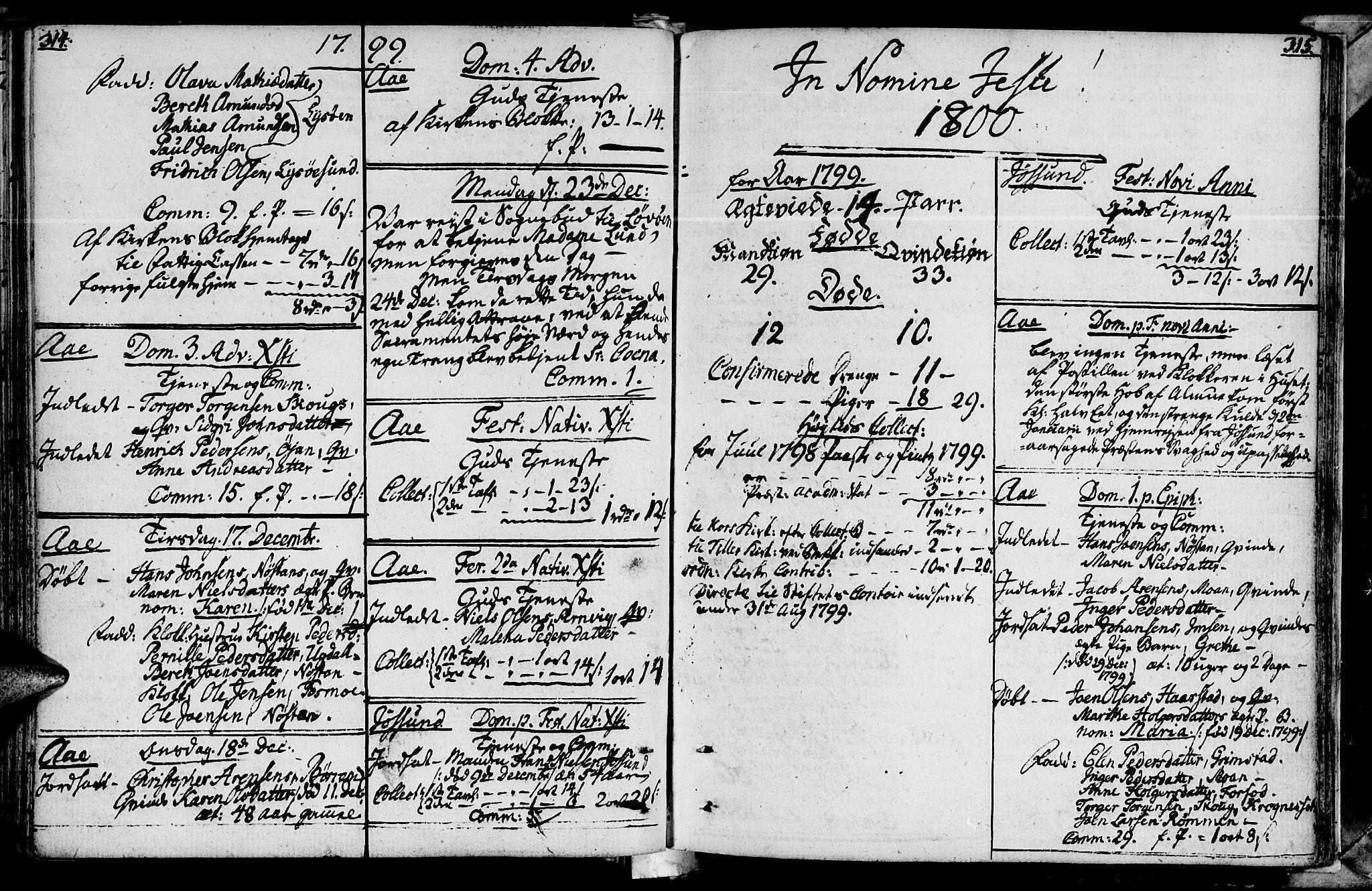 SAT, Ministerialprotokoller, klokkerbøker og fødselsregistre - Sør-Trøndelag, 655/L0673: Ministerialbok nr. 655A02, 1780-1801, s. 314-315