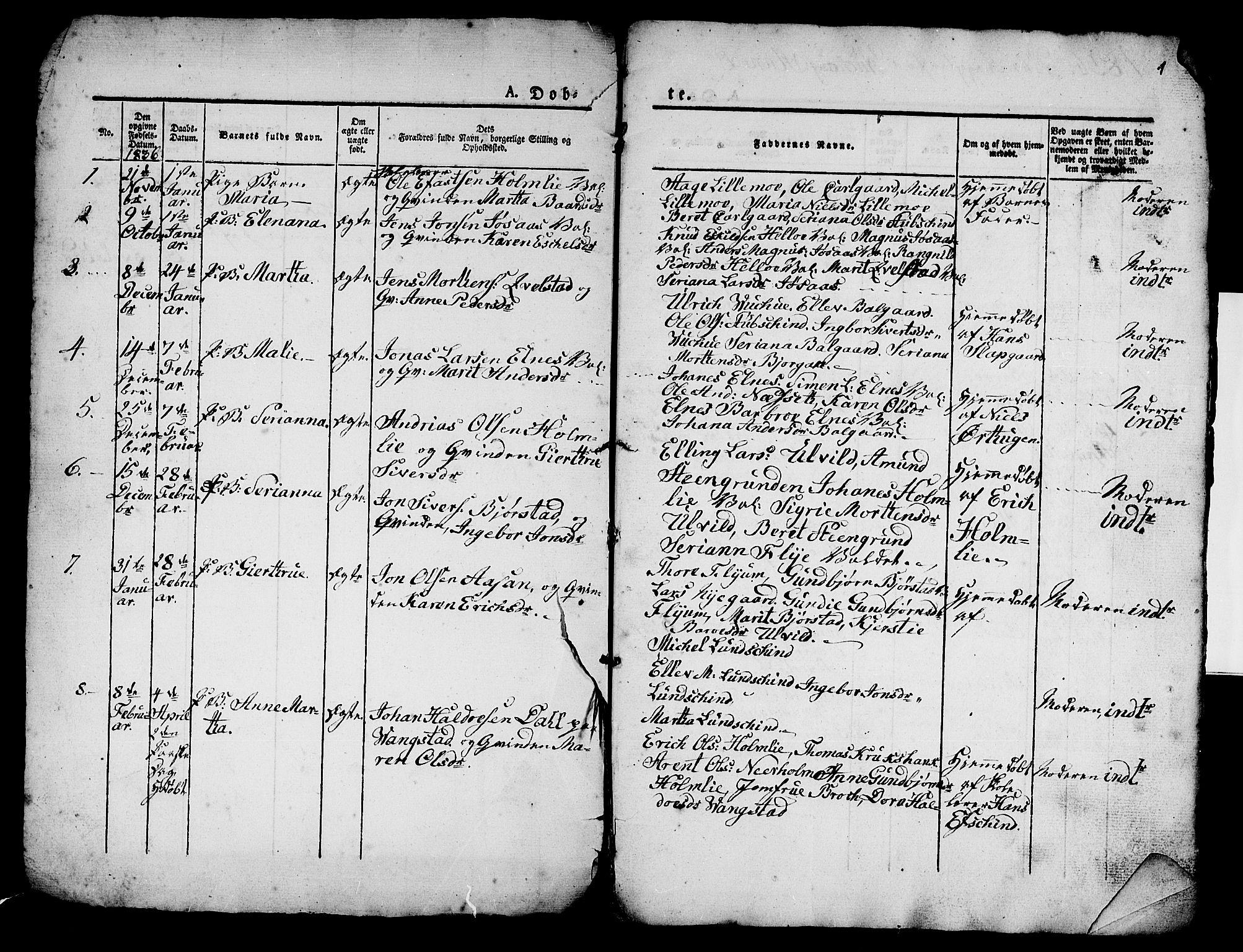 SAT, Ministerialprotokoller, klokkerbøker og fødselsregistre - Nord-Trøndelag, 724/L0266: Klokkerbok nr. 724C02, 1836-1843, s. 1