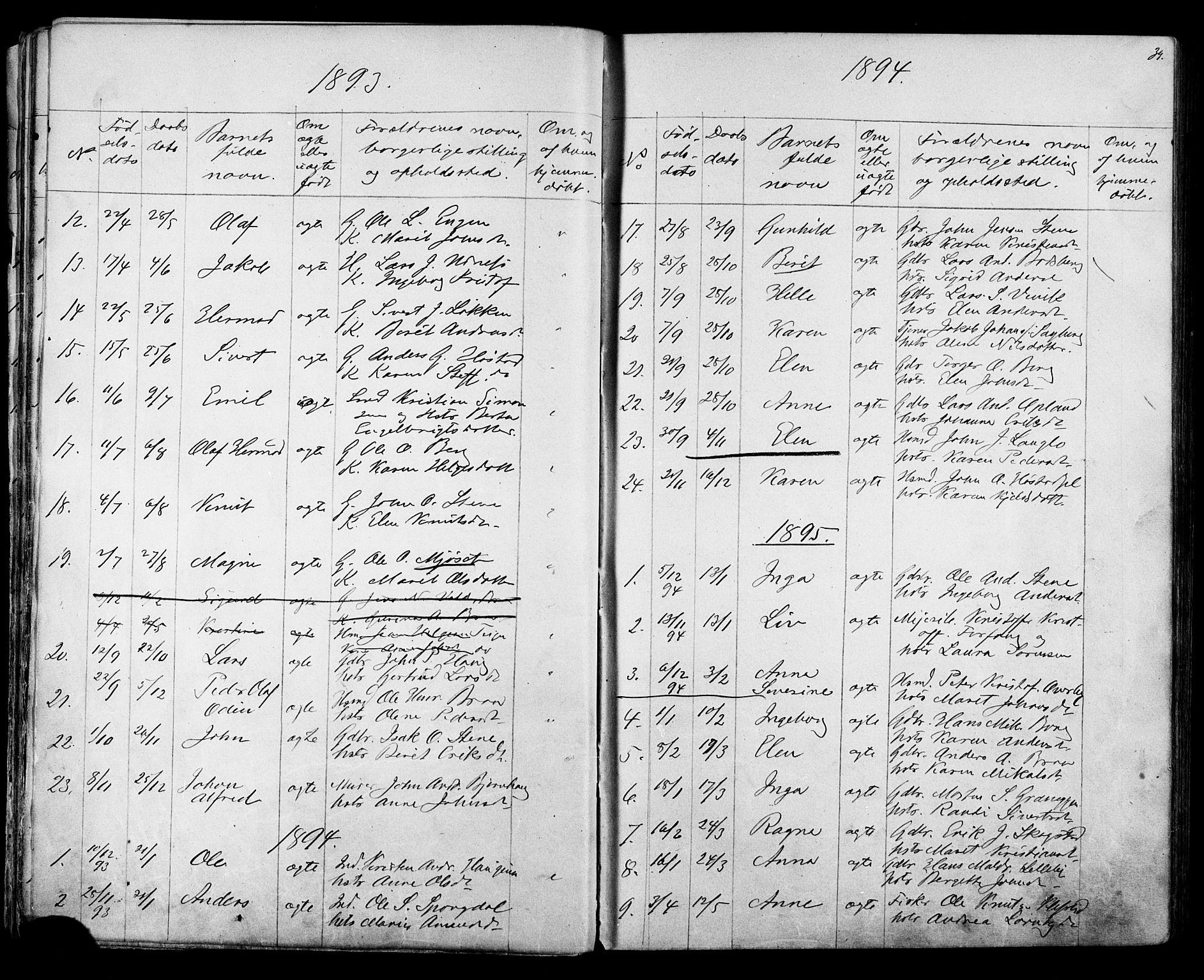 SAT, Ministerialprotokoller, klokkerbøker og fødselsregistre - Sør-Trøndelag, 612/L0387: Klokkerbok nr. 612C03, 1874-1908, s. 39