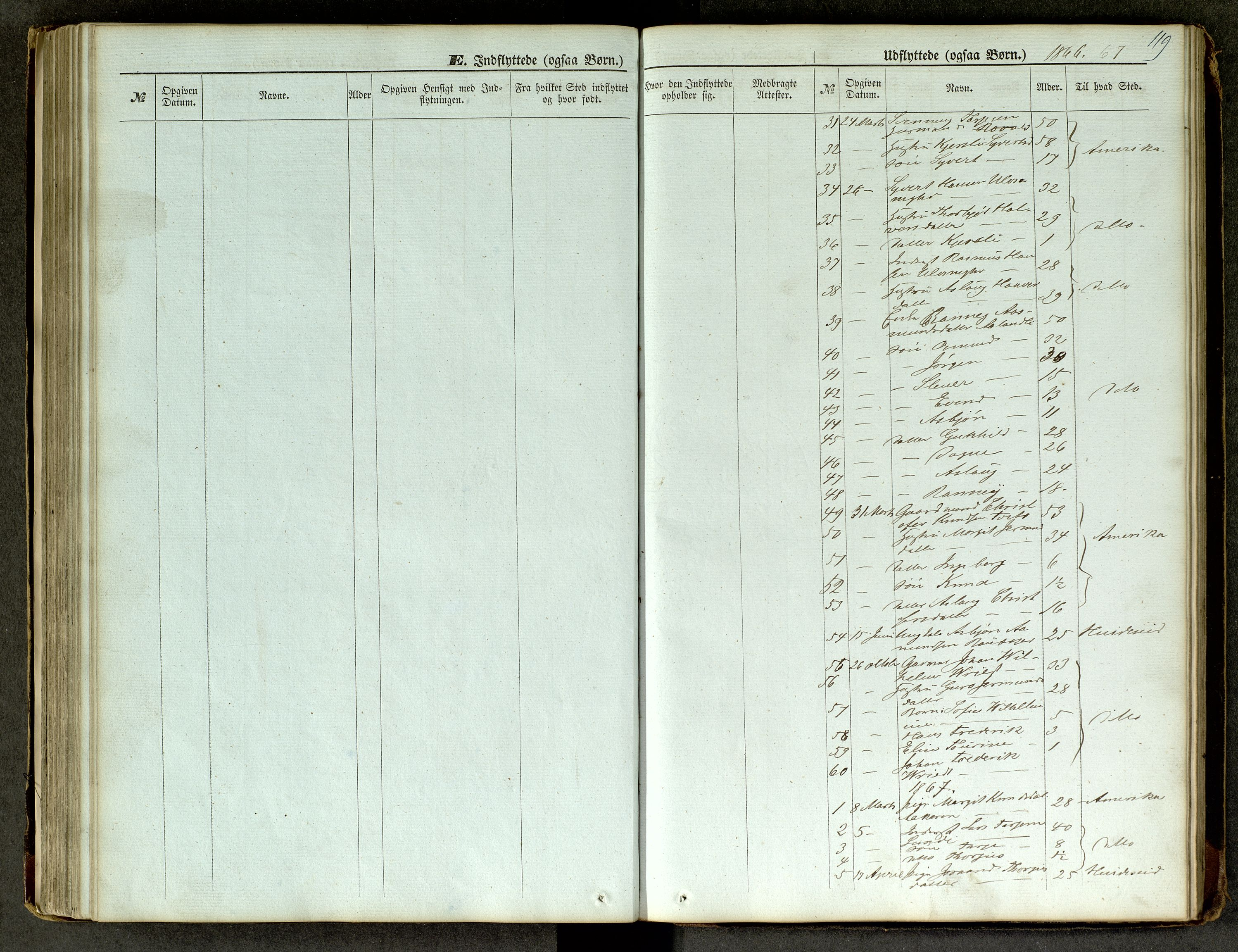 SAKO, Lårdal kirkebøker, G/Ga/L0002: Klokkerbok nr. I 2, 1861-1890, s. 119