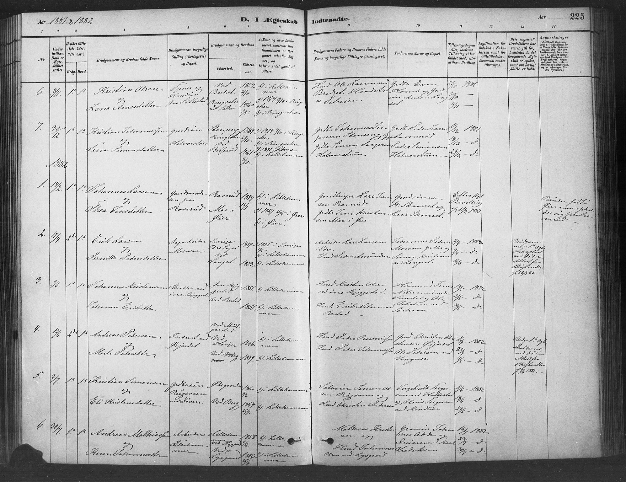 SAH, Fåberg prestekontor, Ministerialbok nr. 9, 1879-1898, s. 225