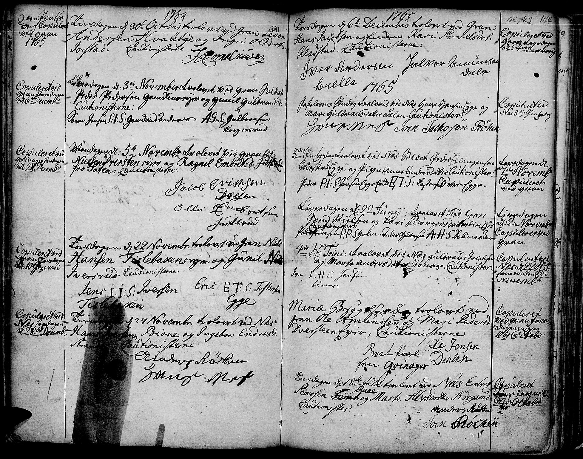 SAH, Gran prestekontor, Ministerialbok nr. 4, 1759-1775, s. 174