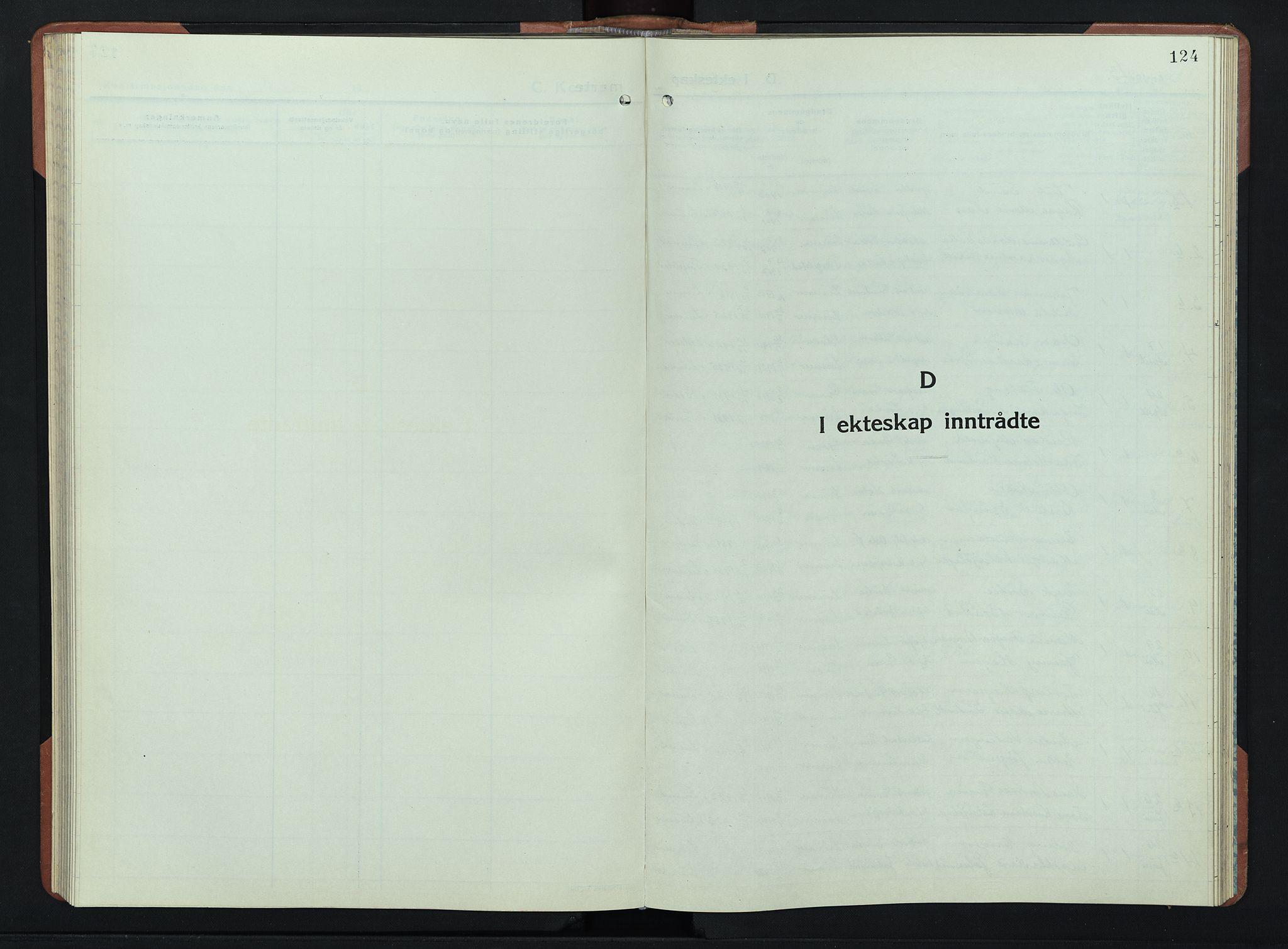SAH, Lunner prestekontor, H/Ha/Hab/L0004: Klokkerbok nr. 4, 1943-1952, s. 124