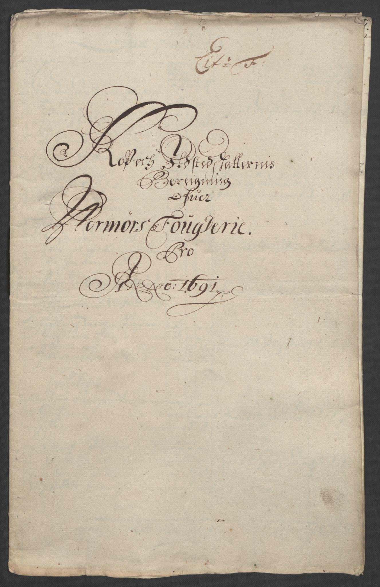 RA, Rentekammeret inntil 1814, Reviderte regnskaper, Fogderegnskap, R56/L3734: Fogderegnskap Nordmøre, 1690-1691, s. 335