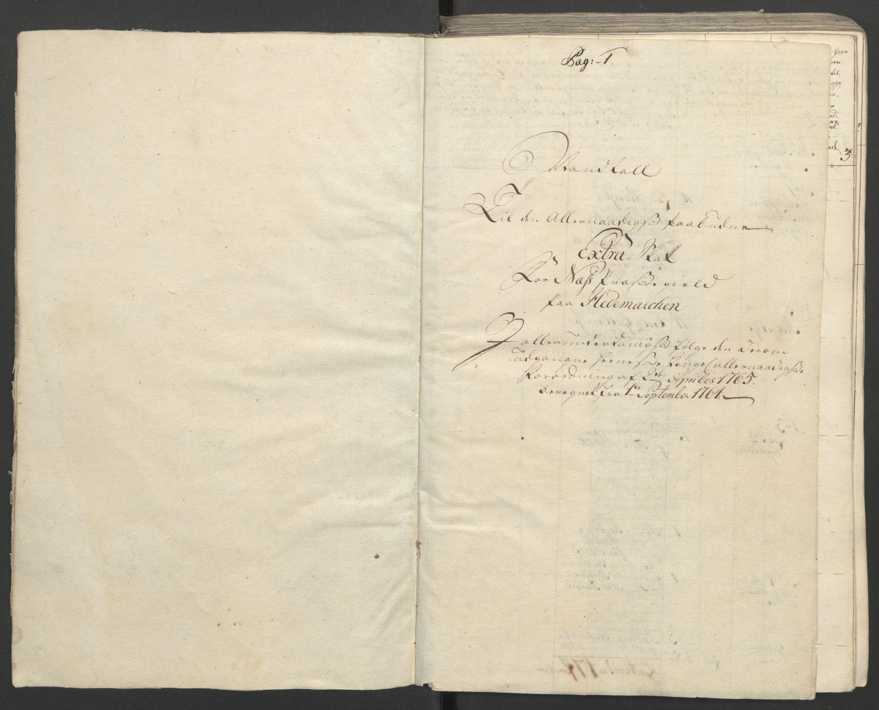 RA, Rentekammeret inntil 1814, Reviderte regnskaper, Fogderegnskap, R16/L1148: Ekstraskatten Hedmark, 1764, s. 4