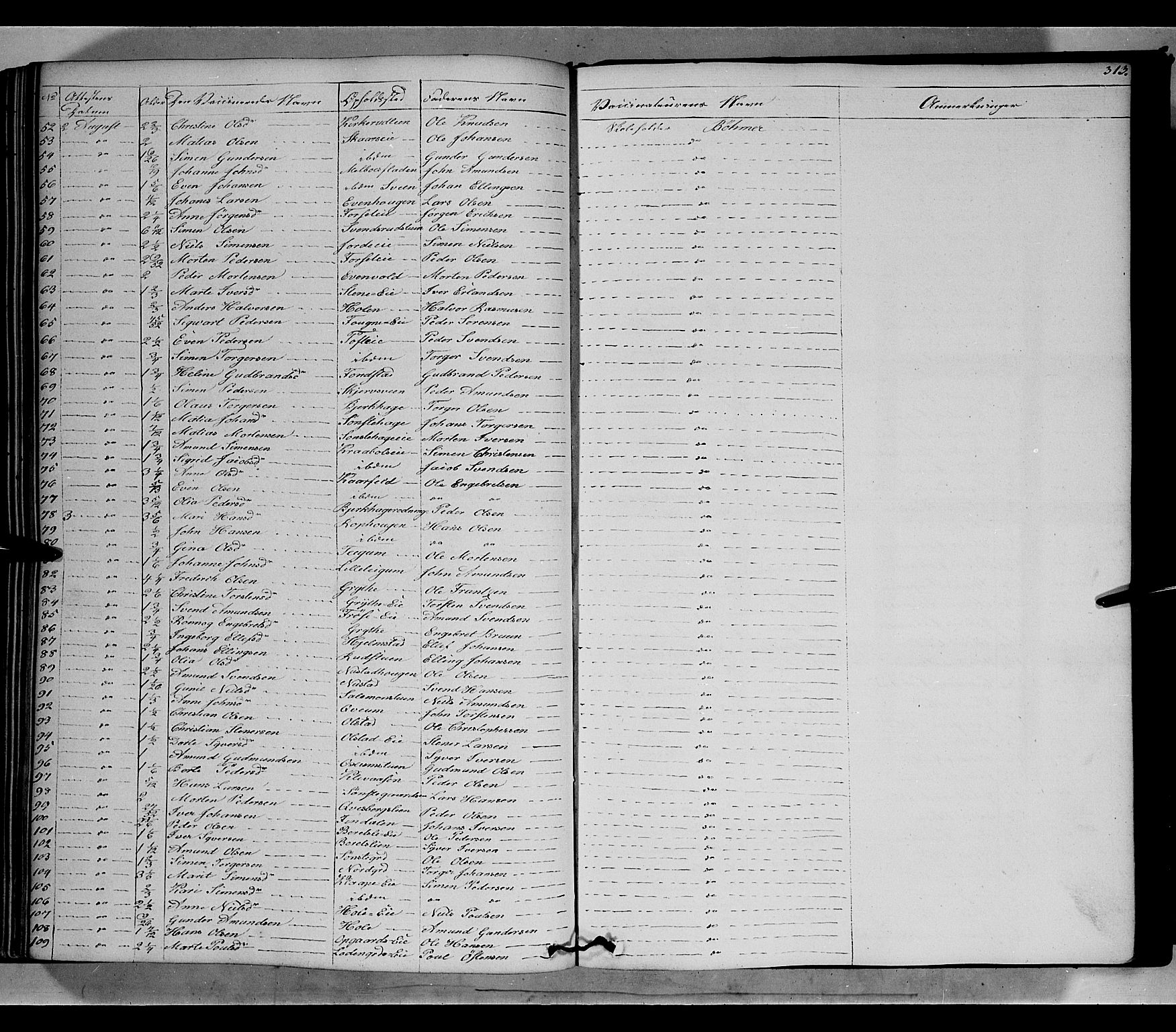 SAH, Gausdal prestekontor, Ministerialbok nr. 7, 1840-1850, s. 313