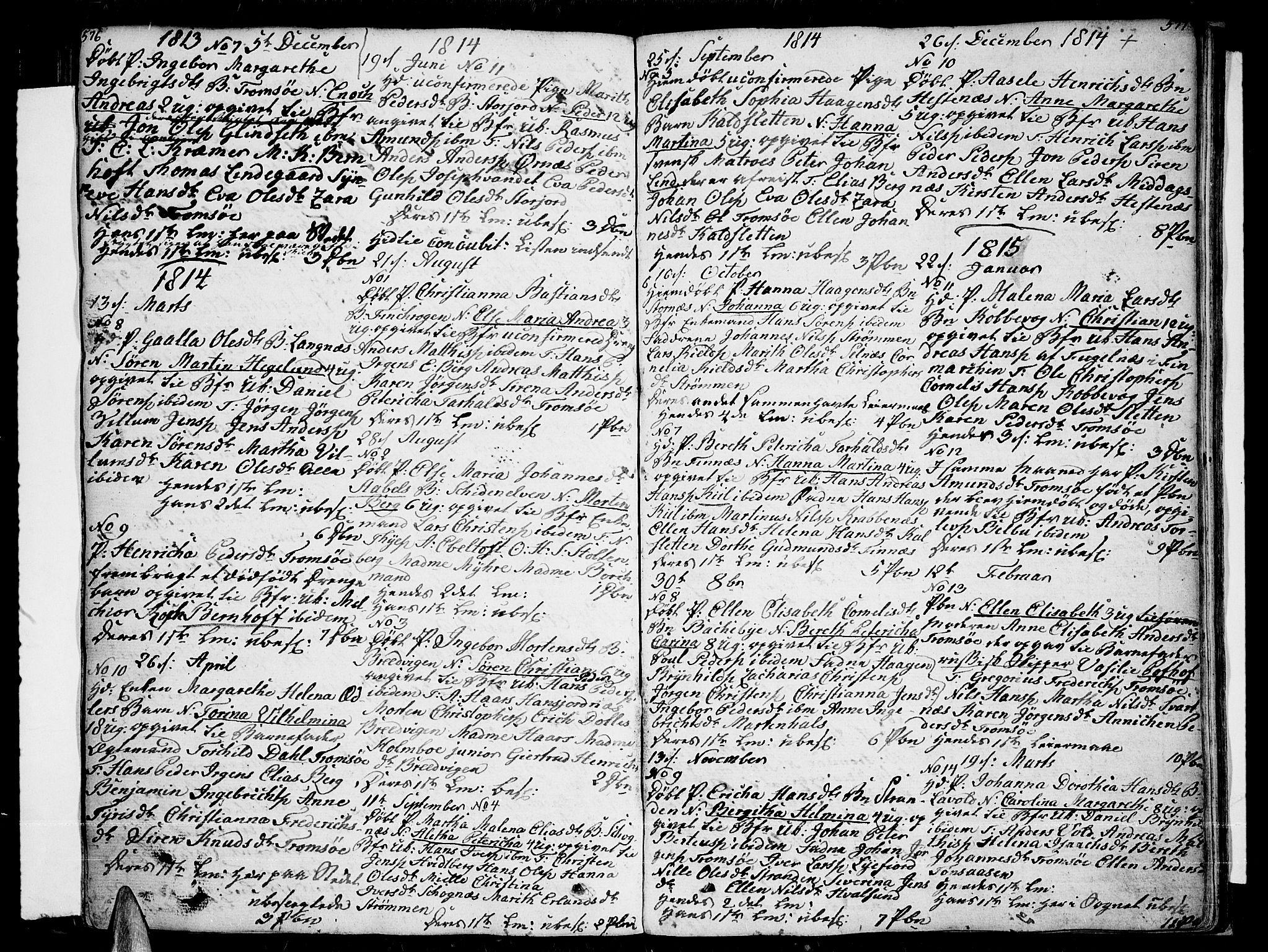 SATØ, Tromsø sokneprestkontor/stiftsprosti/domprosti, G/Ga/L0006kirke: Ministerialbok nr. 6, 1806-1821, s. 576-577