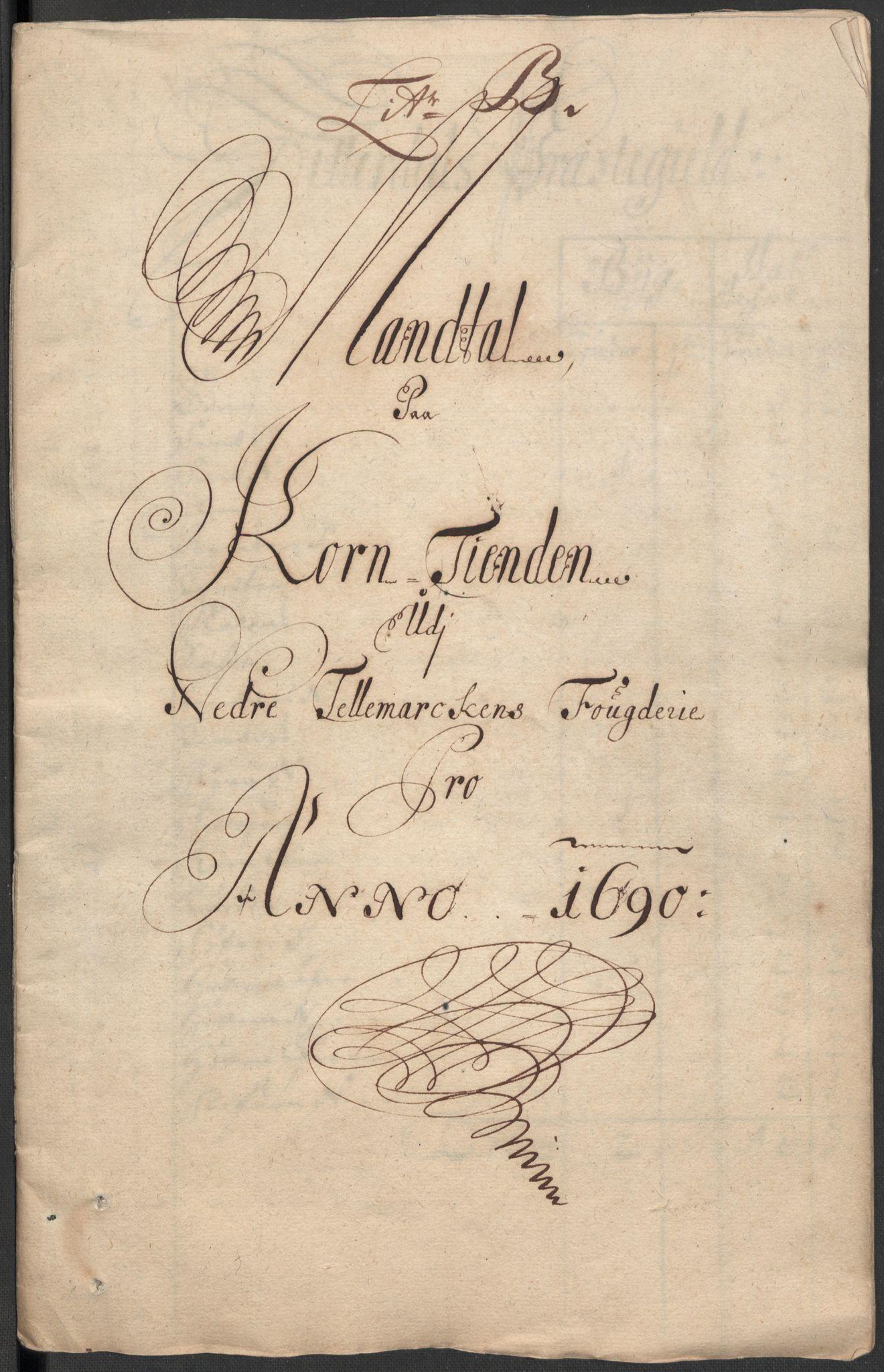 RA, Rentekammeret inntil 1814, Reviderte regnskaper, Fogderegnskap, R35/L2089: Fogderegnskap Øvre og Nedre Telemark, 1690-1692, s. 50