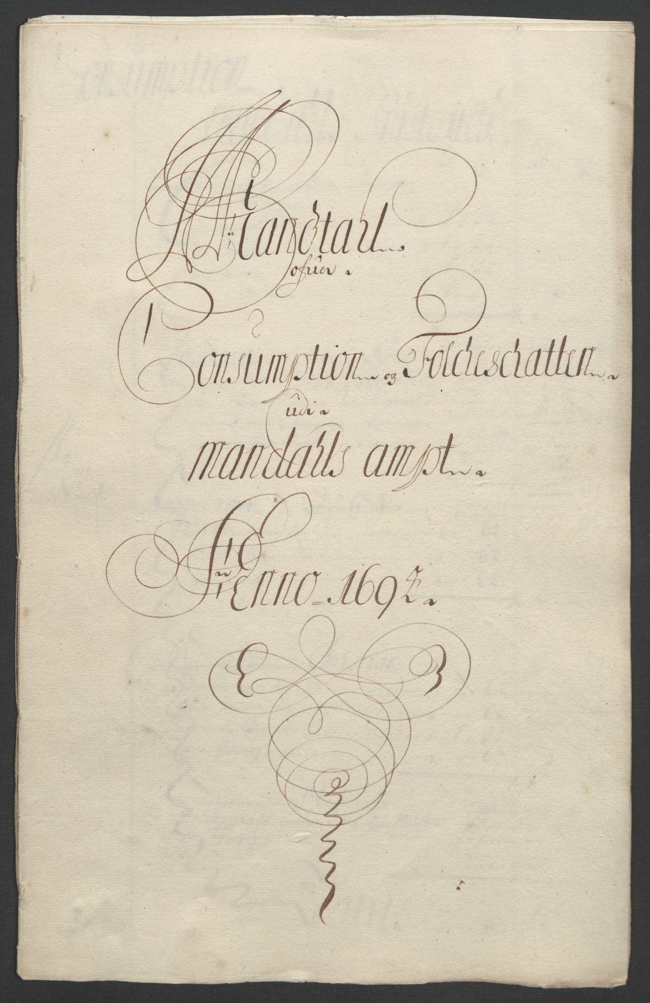 RA, Rentekammeret inntil 1814, Reviderte regnskaper, Fogderegnskap, R43/L2545: Fogderegnskap Lista og Mandal, 1694-1695, s. 101