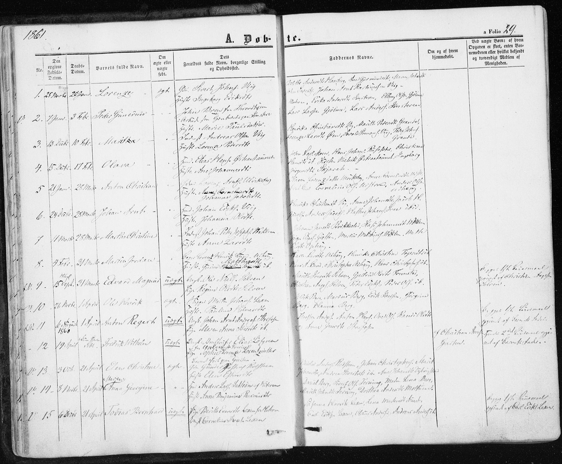 SAT, Ministerialprotokoller, klokkerbøker og fødselsregistre - Sør-Trøndelag, 659/L0737: Ministerialbok nr. 659A07, 1857-1875, s. 29
