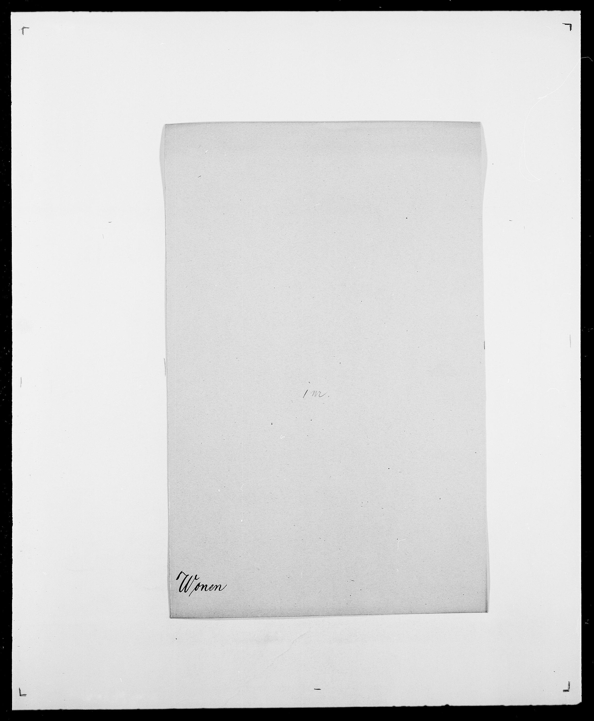 SAO, Delgobe, Charles Antoine - samling, D/Da/L0042: Vilain - Wulf, Wulff, se også Wolf, s. 671