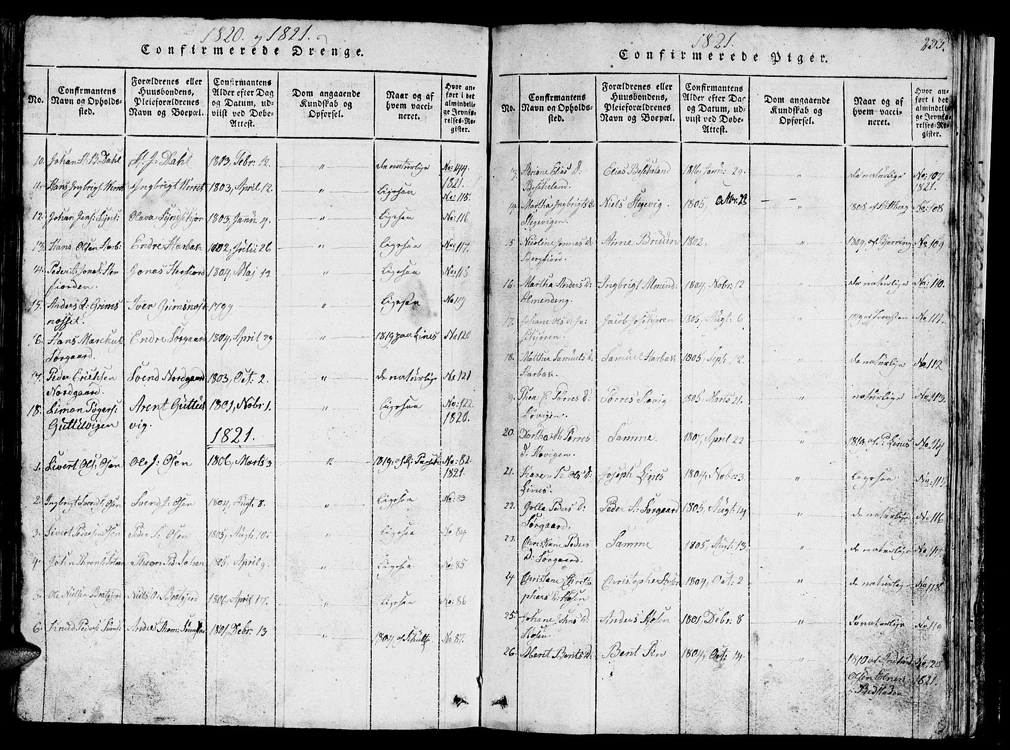 SAT, Ministerialprotokoller, klokkerbøker og fødselsregistre - Sør-Trøndelag, 657/L0714: Klokkerbok nr. 657C01, 1818-1868, s. 235
