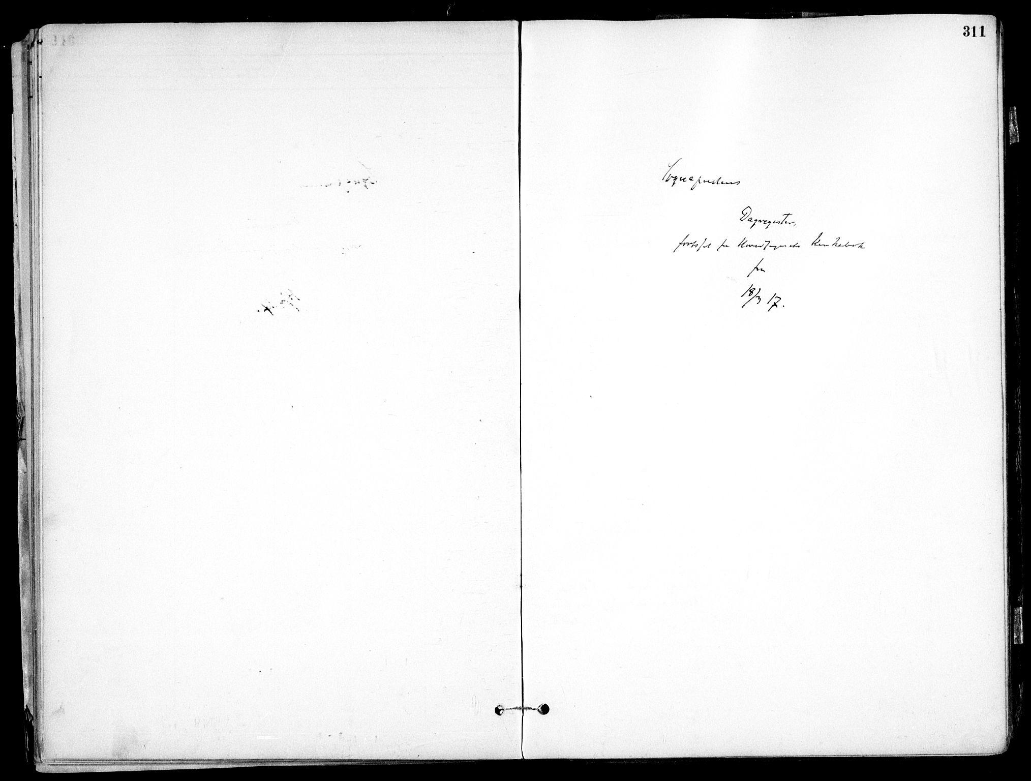 SAO, Nes prestekontor Kirkebøker, F/Fb/L0002: Ministerialbok nr. II 2, 1883-1918, s. 311
