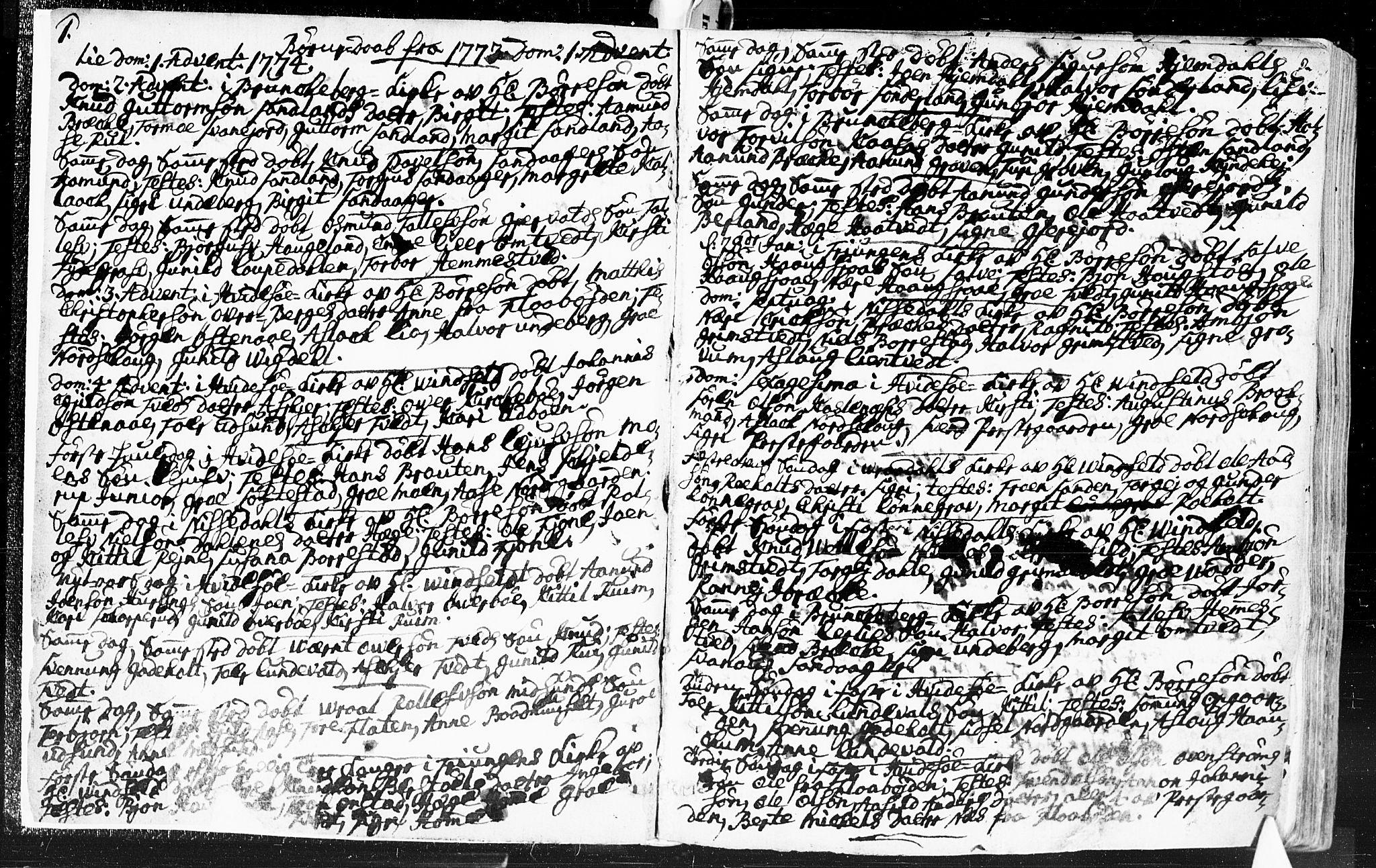 SAKO, Kviteseid kirkebøker, F/Fa/L0002: Ministerialbok nr. I 2, 1773-1786, s. 2