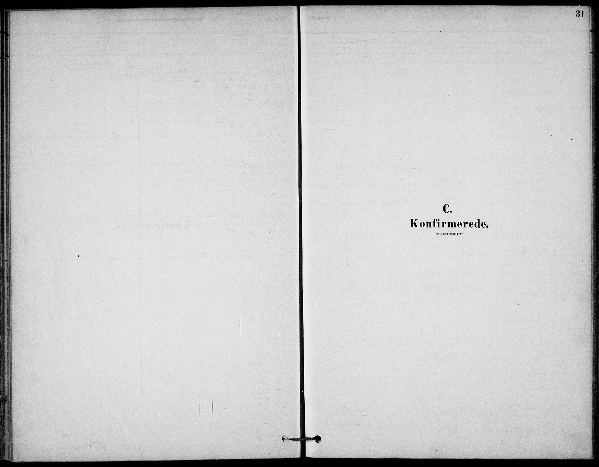 SAKO, Bamble kirkebøker, G/Gb/L0001: Klokkerbok nr. II 1, 1878-1900, s. 31