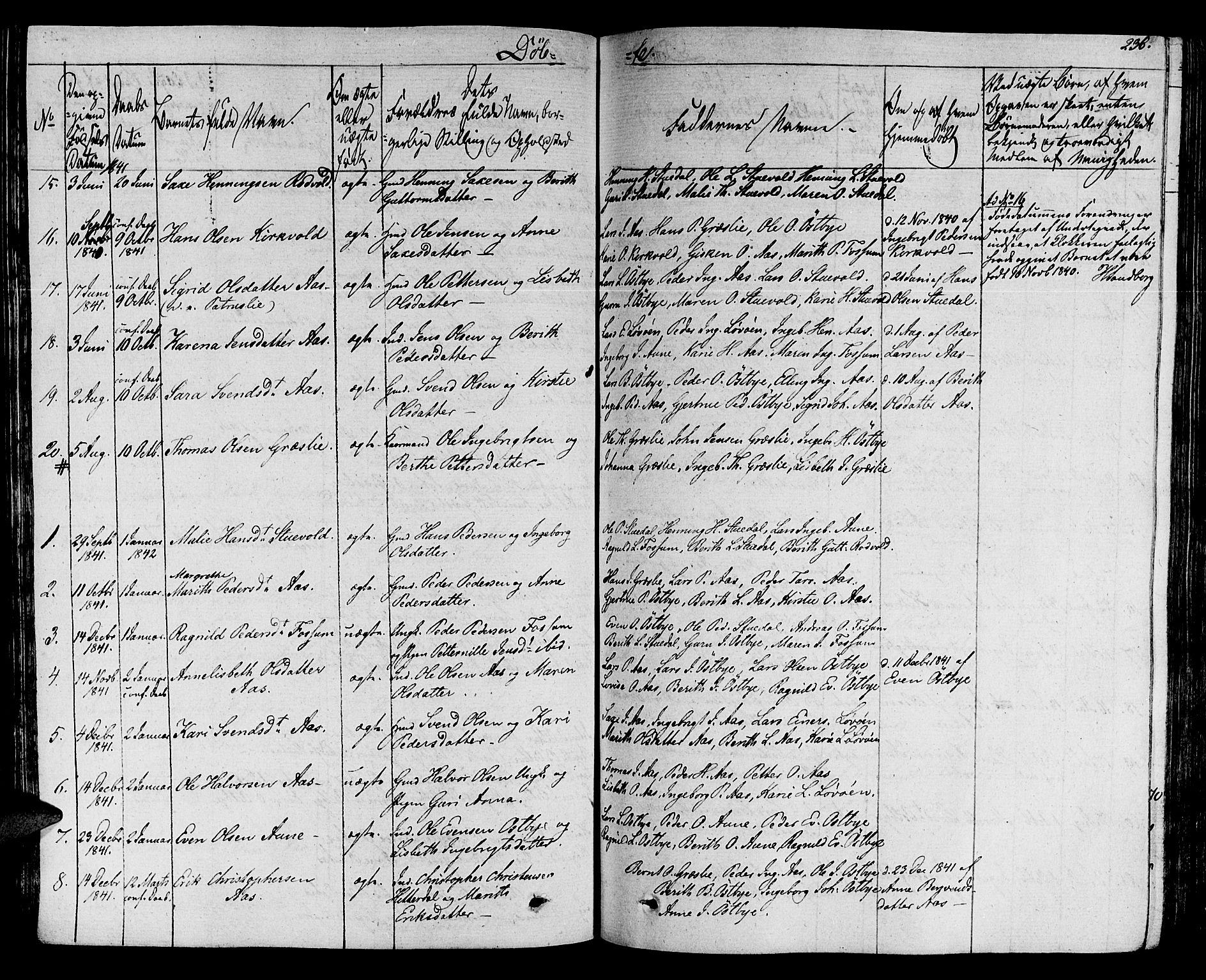 SAT, Ministerialprotokoller, klokkerbøker og fødselsregistre - Sør-Trøndelag, 695/L1144: Ministerialbok nr. 695A05 /2, 1824-1842, s. 236
