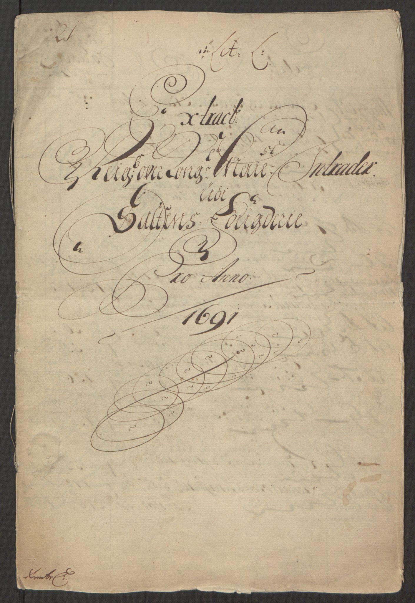 RA, Rentekammeret inntil 1814, Reviderte regnskaper, Fogderegnskap, R66/L4577: Fogderegnskap Salten, 1691-1693, s. 4