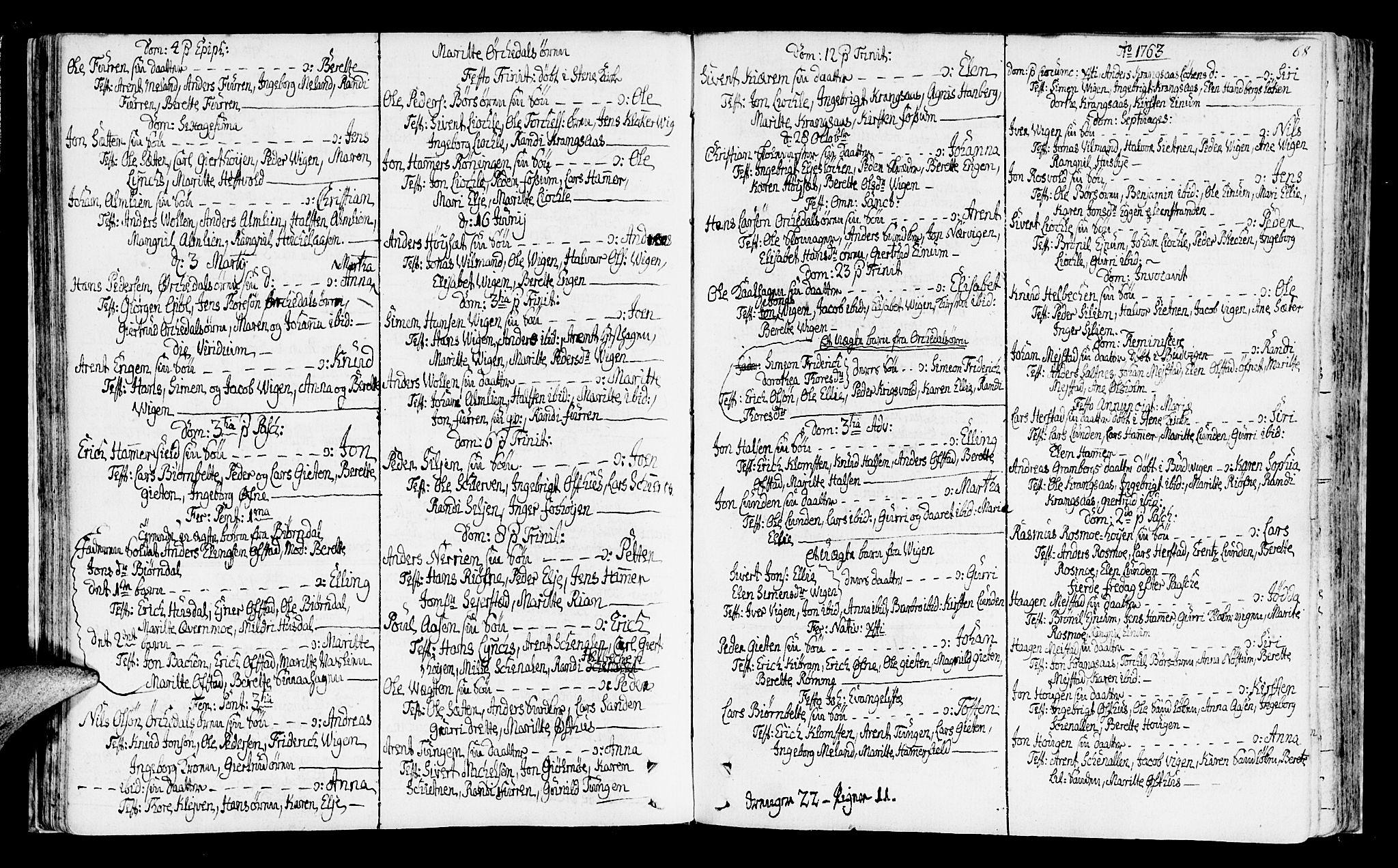 SAT, Ministerialprotokoller, klokkerbøker og fødselsregistre - Sør-Trøndelag, 665/L0768: Ministerialbok nr. 665A03, 1754-1803, s. 68