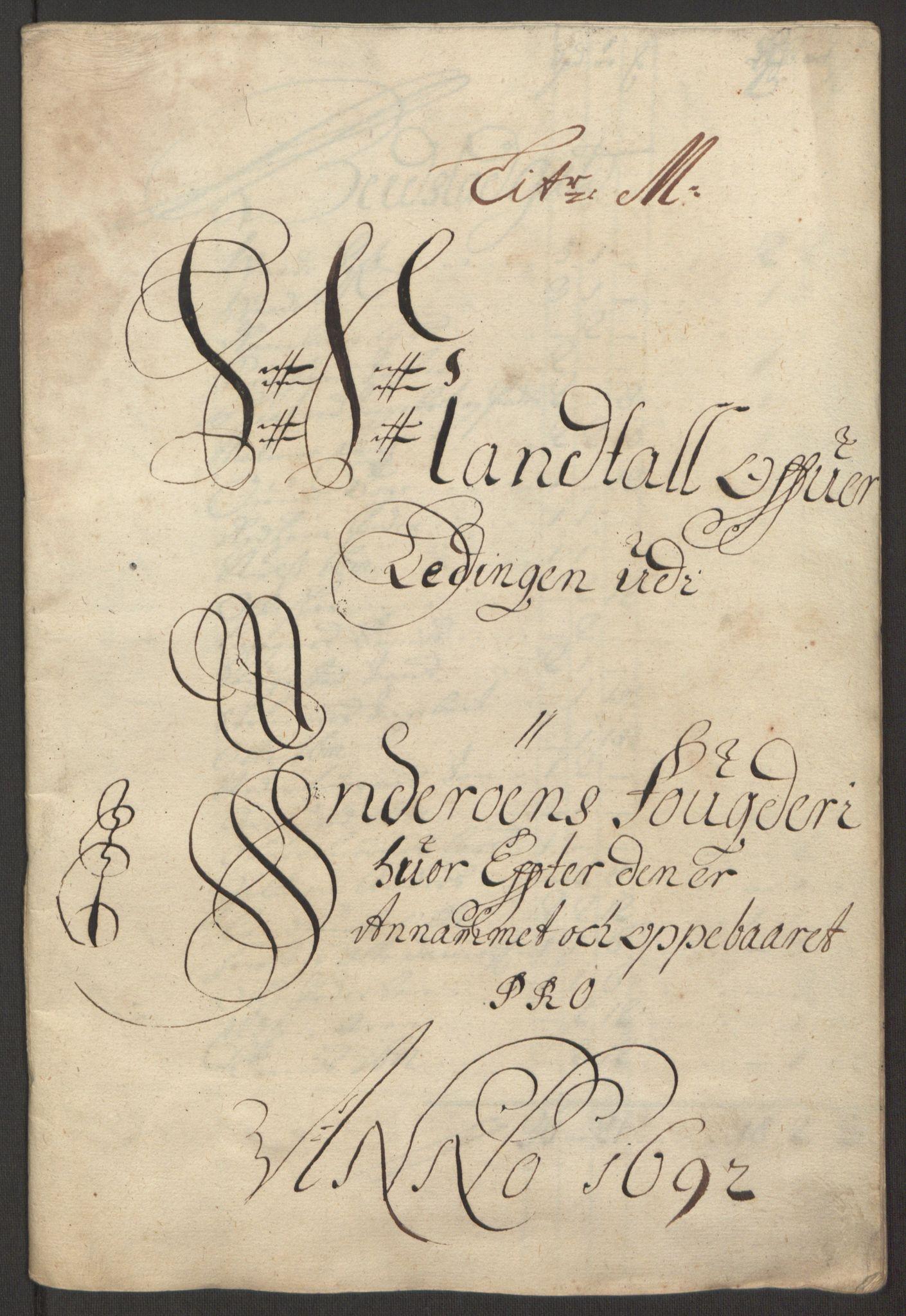 RA, Rentekammeret inntil 1814, Reviderte regnskaper, Fogderegnskap, R63/L4308: Fogderegnskap Inderøy, 1692-1694, s. 171