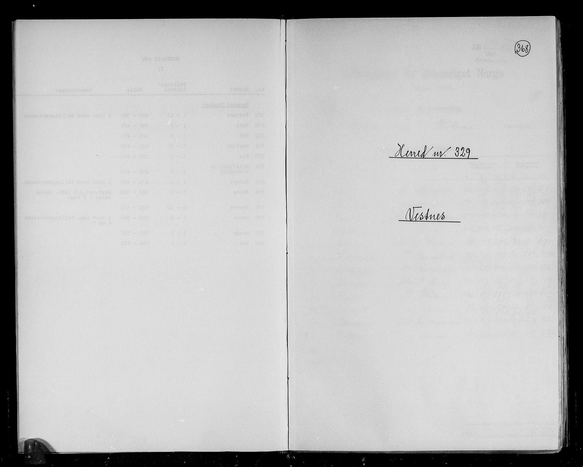 RA, Folketelling 1891 for 1535 Vestnes herred, 1891, s. 1