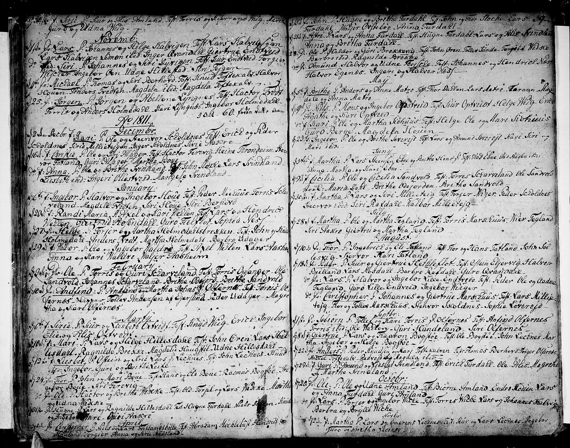 SAB, Skånevik Sokneprestembete, H/Haa: Ministerialbok nr. A 2, 1790-1824, s. 39