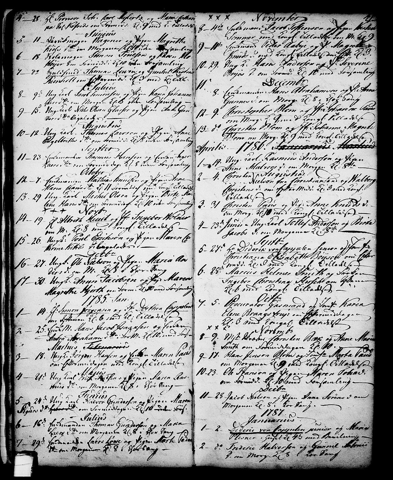 SAKO, Skien kirkebøker, G/Ga/L0001: Klokkerbok nr. 1, 1756-1791, s. 41