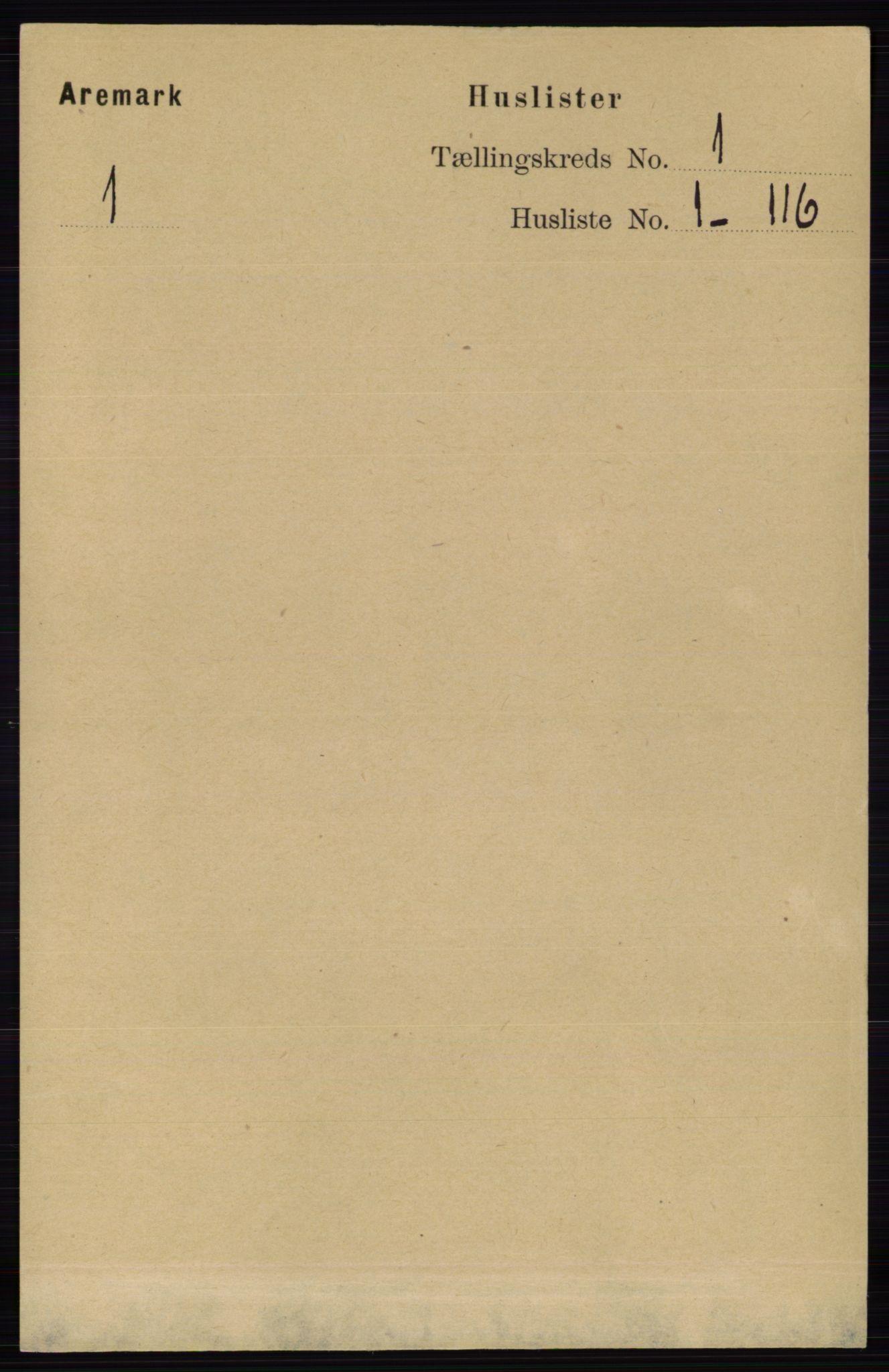 RA, Folketelling 1891 for 0118 Aremark herred, 1891, s. 25