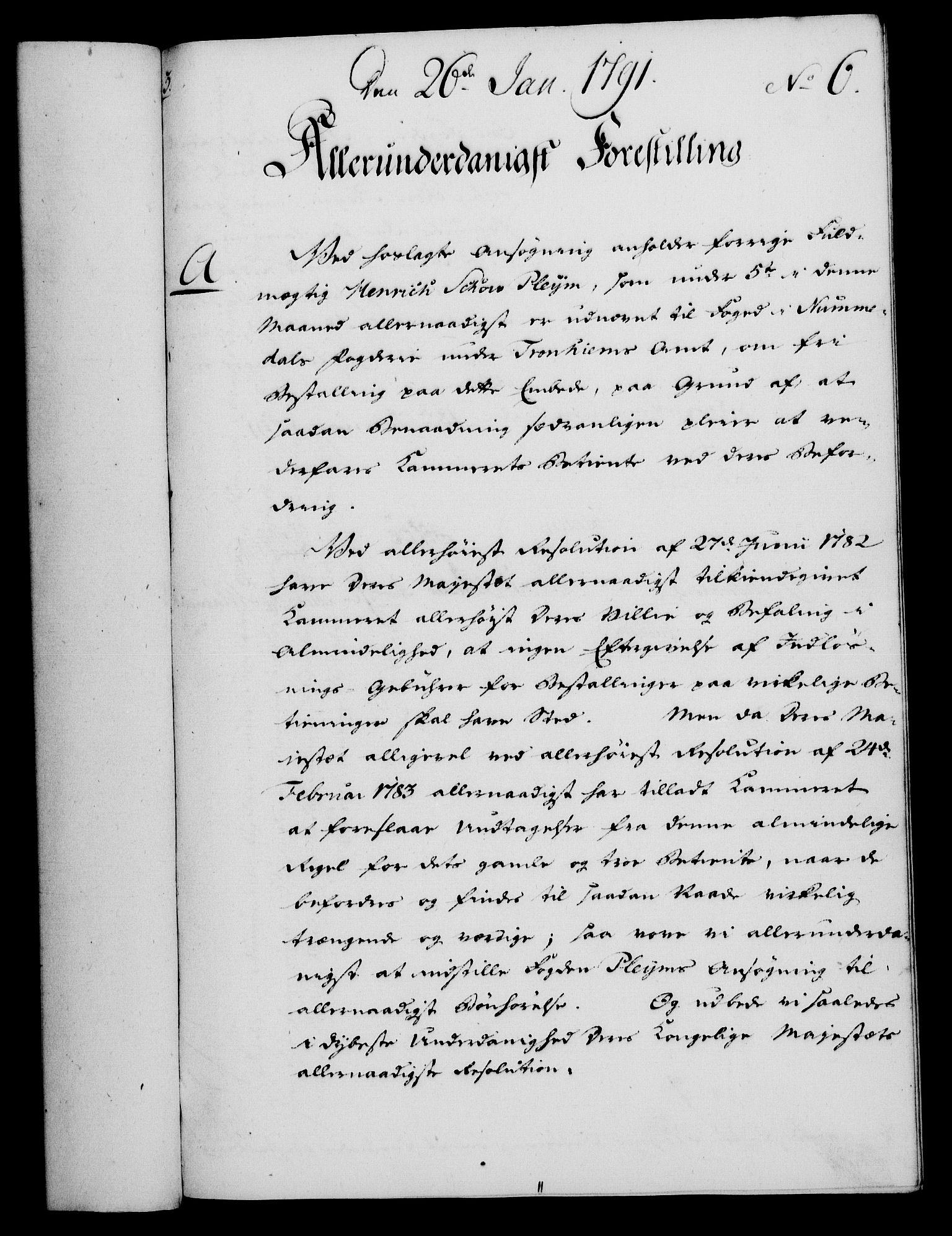 RA, Rentekammeret, Kammerkanselliet, G/Gf/Gfa/L0073: Norsk relasjons- og resolusjonsprotokoll (merket RK 52.73), 1791, s. 55