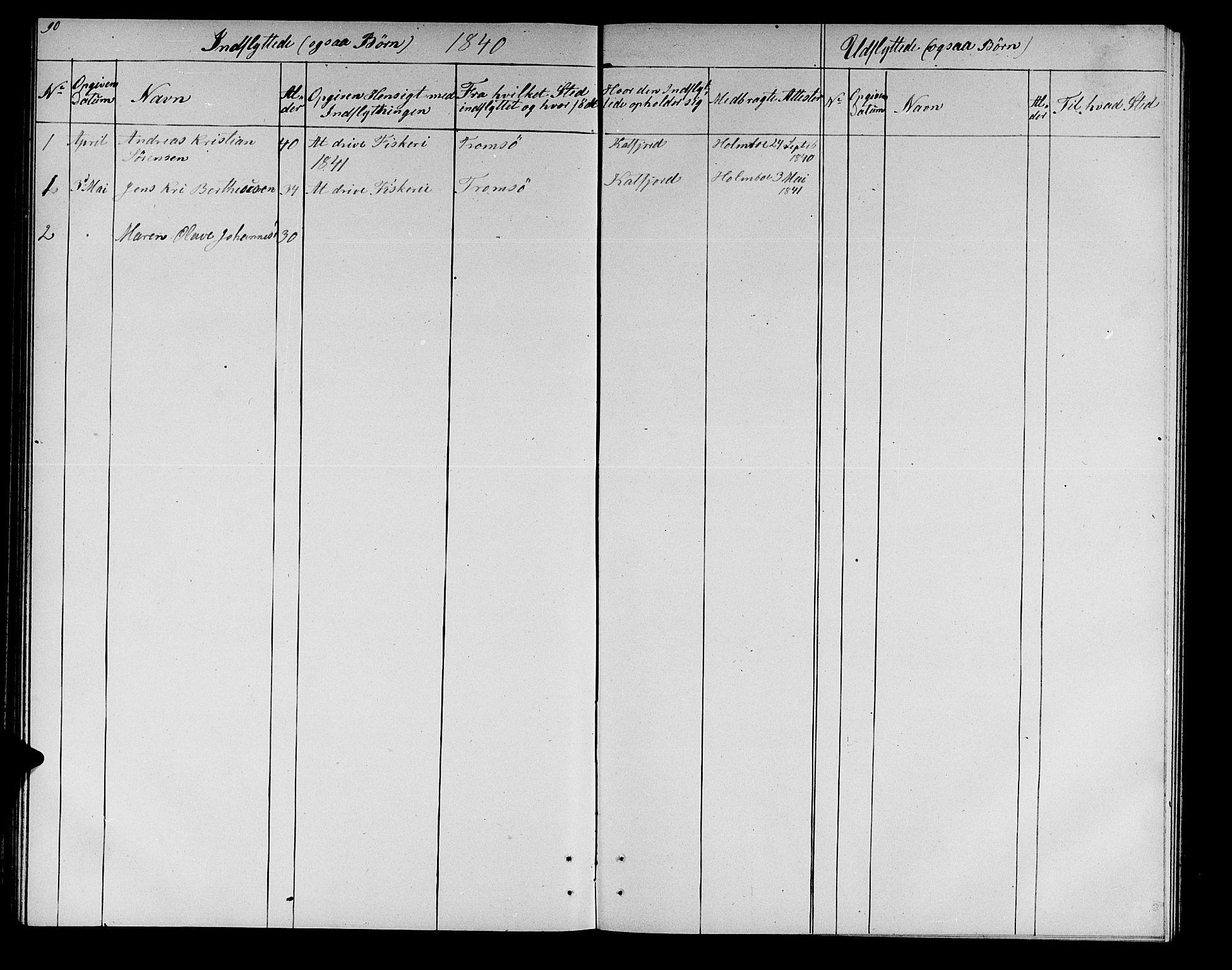 SATØ, Lenvik sokneprestembete, H/Ha: Klokkerbok nr. 19, 1837-1844, s. 90