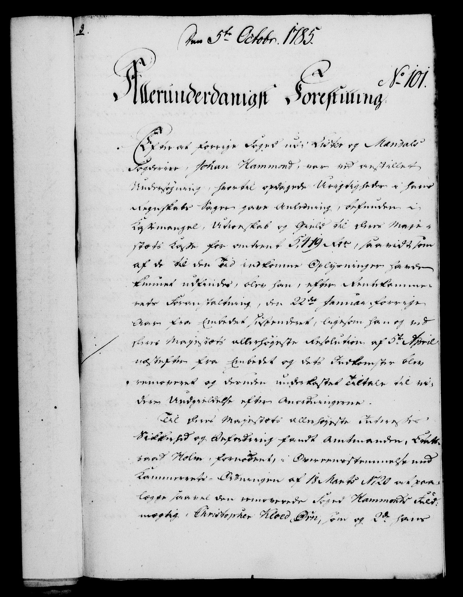 RA, Rentekammeret, Kammerkanselliet, G/Gf/Gfa/L0067: Norsk relasjons- og resolusjonsprotokoll (merket RK 52.67), 1785, s. 805