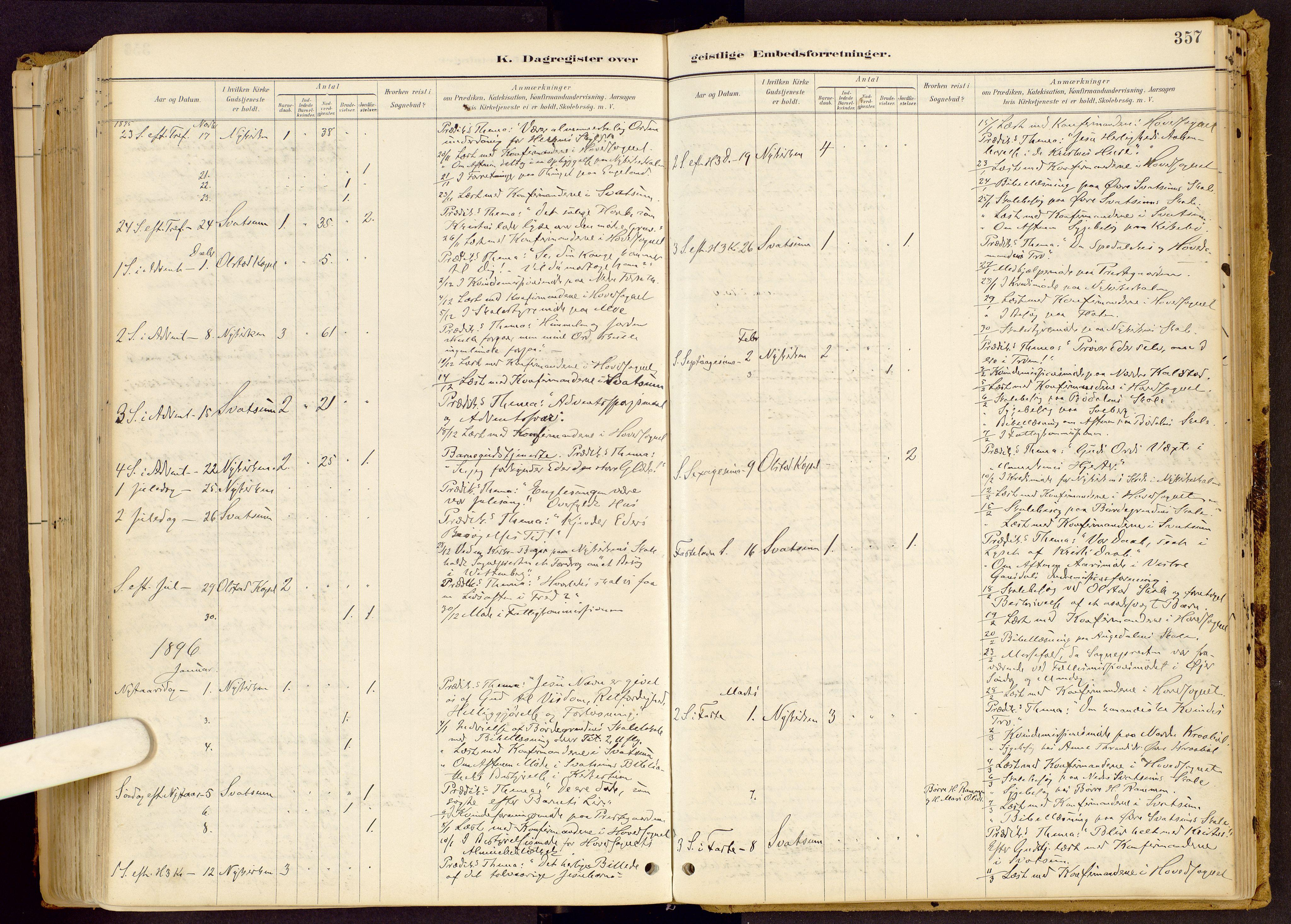 SAH, Vestre Gausdal prestekontor, Ministerialbok nr. 1, 1887-1914, s. 357