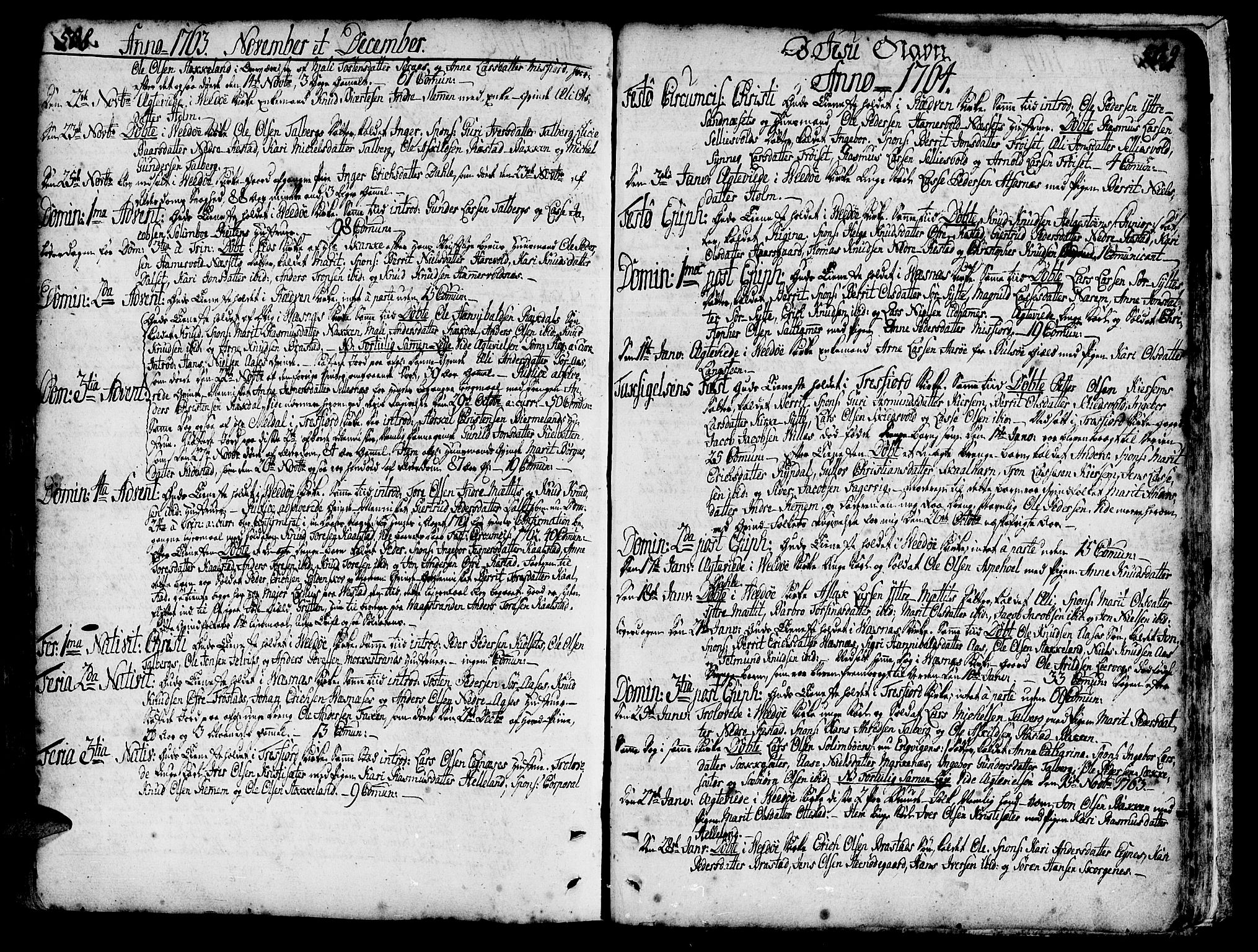 SAT, Ministerialprotokoller, klokkerbøker og fødselsregistre - Møre og Romsdal, 547/L0599: Ministerialbok nr. 547A01, 1721-1764, s. 508-509