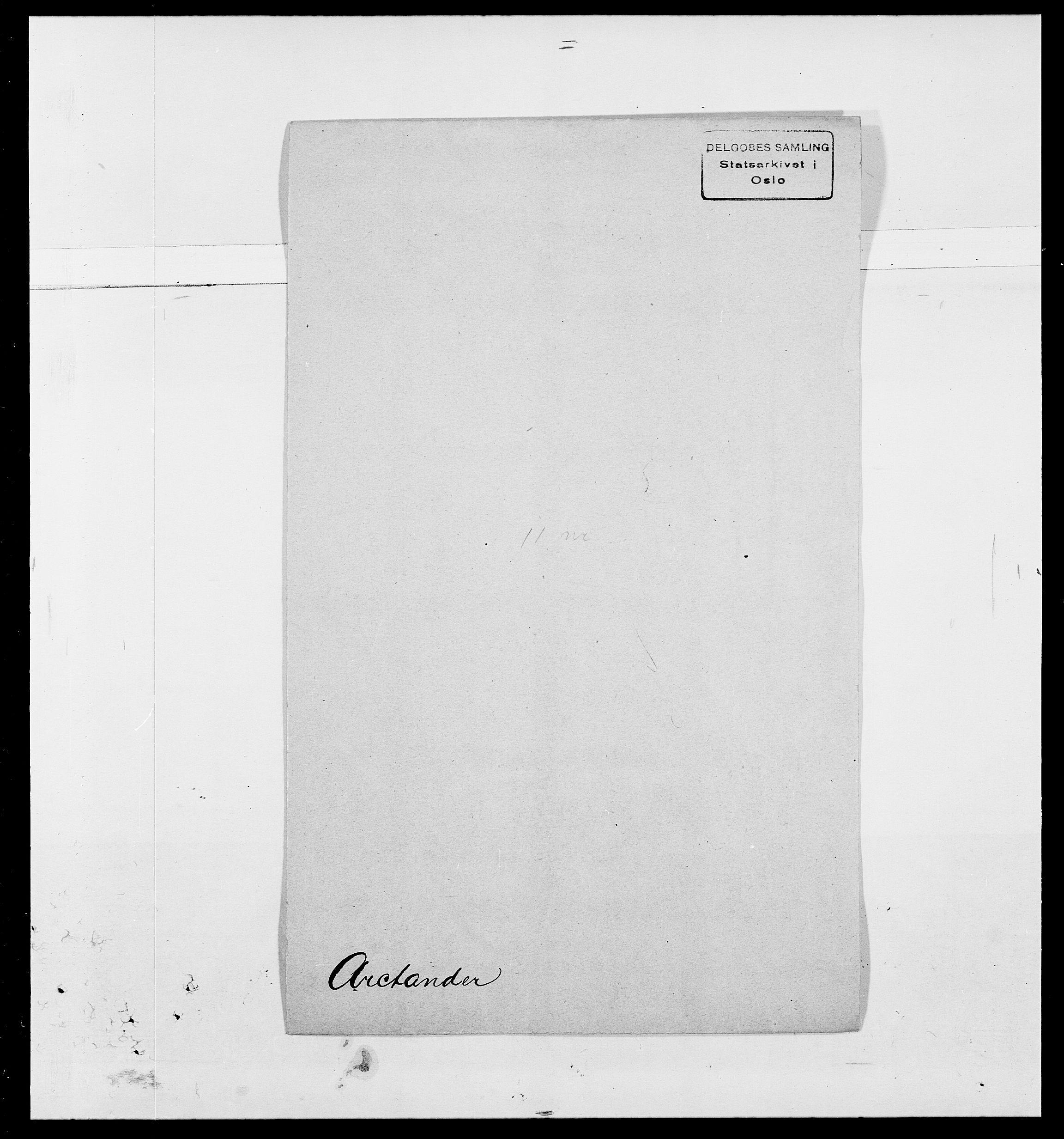 SAO, Delgobe, Charles Antoine - samling, D/Da/L0002: Anker, Ancher - Bauner, s. 229