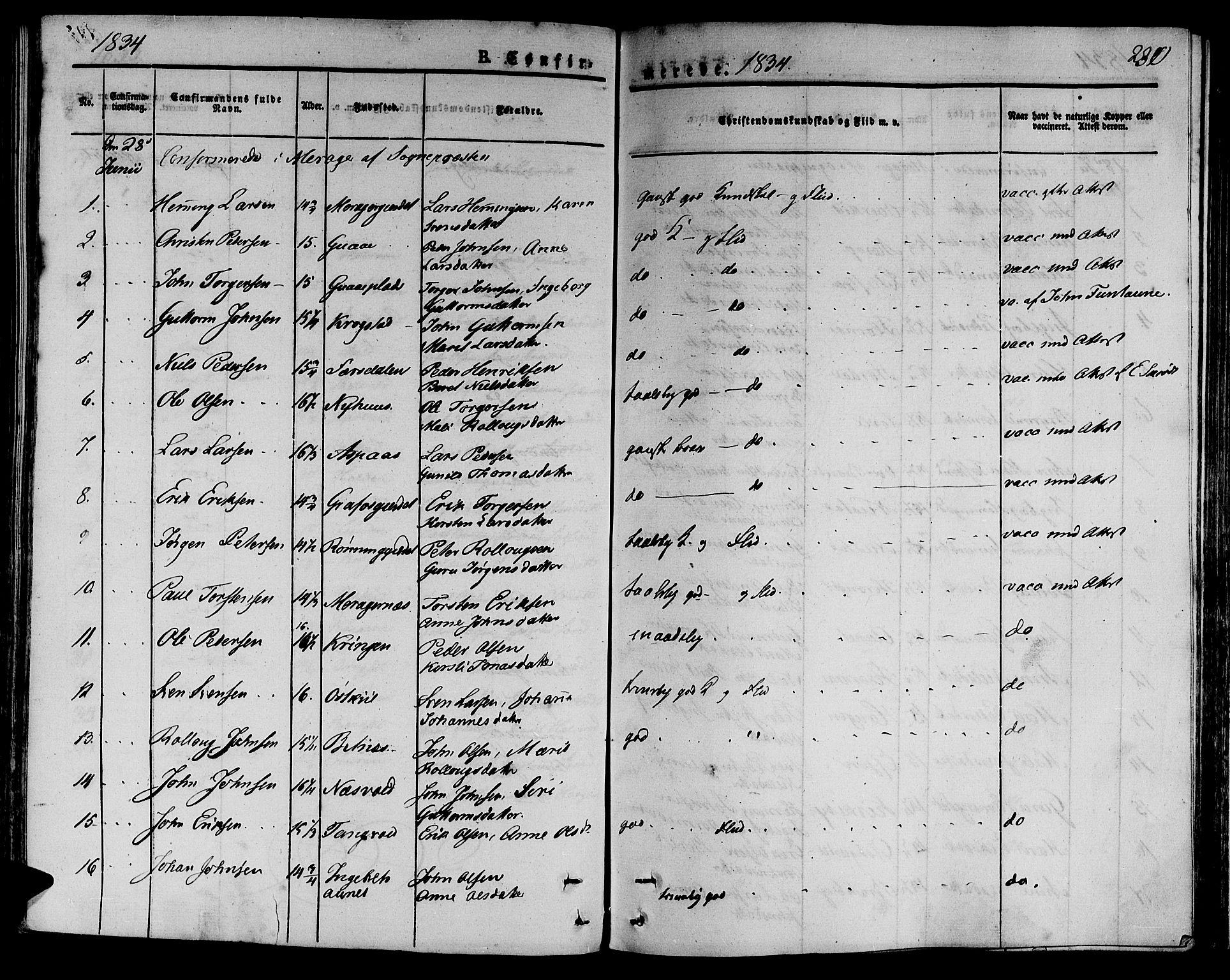 SAT, Ministerialprotokoller, klokkerbøker og fødselsregistre - Nord-Trøndelag, 709/L0071: Ministerialbok nr. 709A11, 1833-1844, s. 230