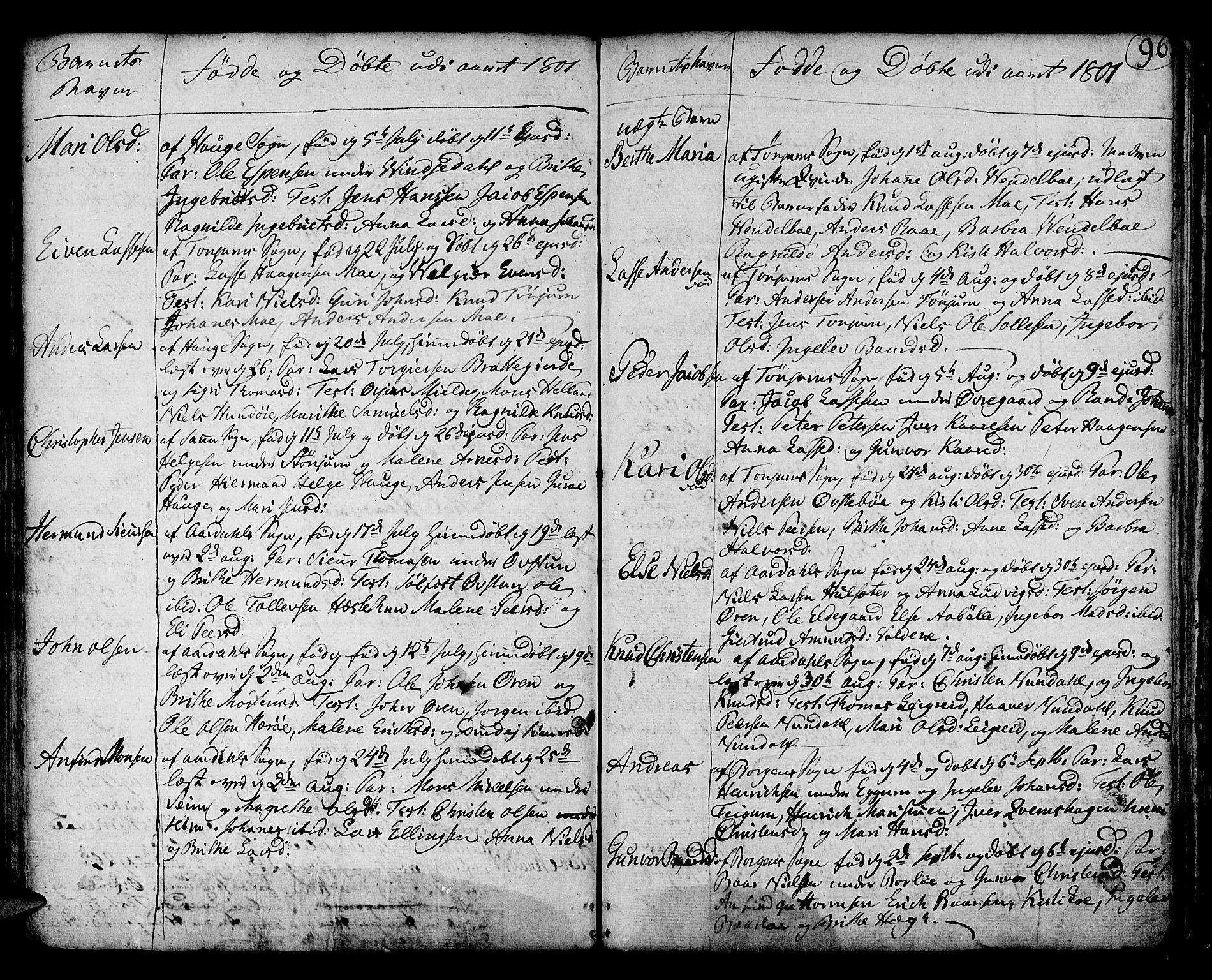 SAB, Lærdal sokneprestembete, Ministerialbok nr. A 3, 1783-1804, s. 96