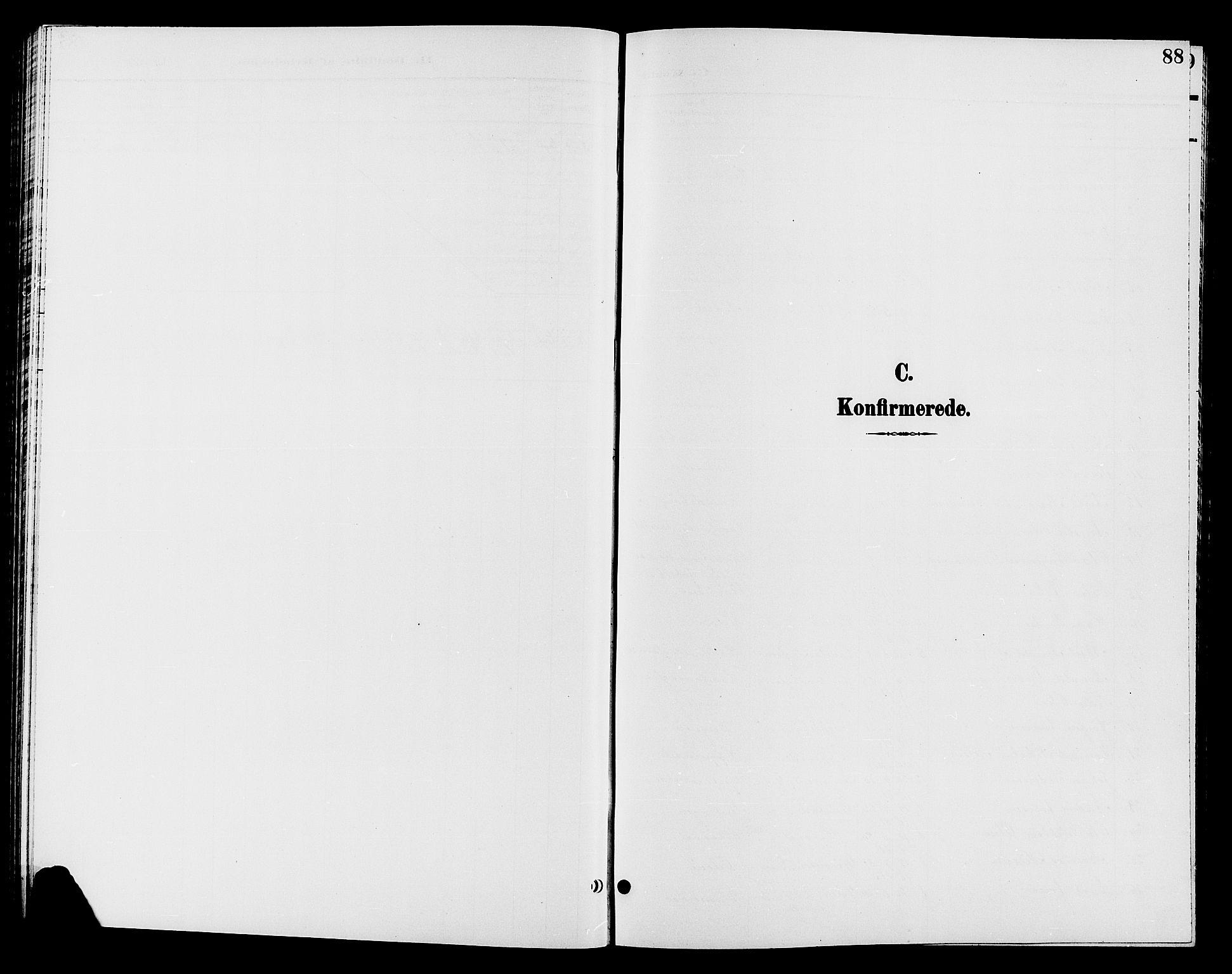 SAH, Jevnaker prestekontor, Klokkerbok nr. 2, 1896-1906, s. 88