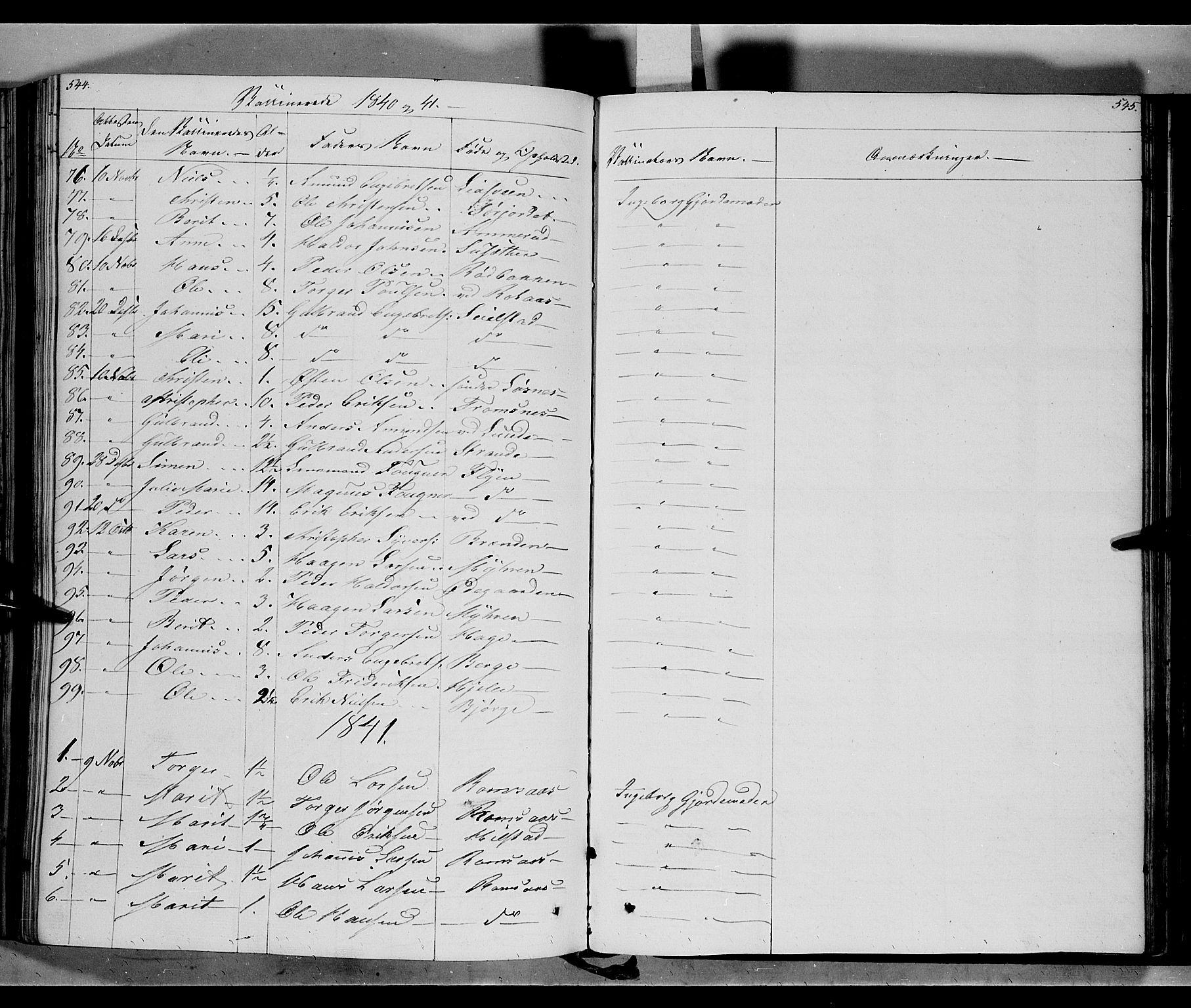 SAH, Ringebu prestekontor, Ministerialbok nr. 5, 1839-1848, s. 544-545