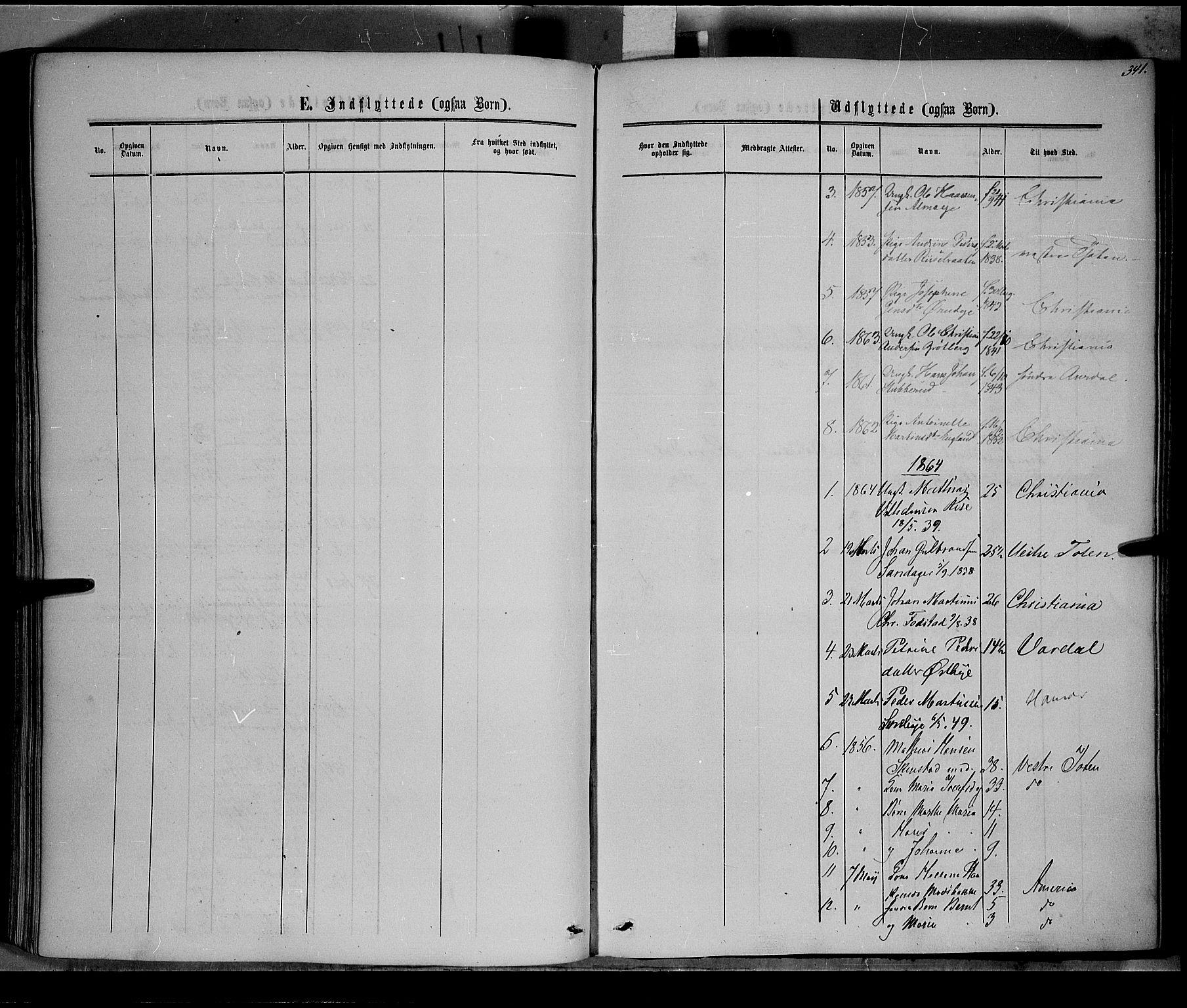 SAH, Østre Toten prestekontor, Ministerialbok nr. 4, 1857-1865, s. 341