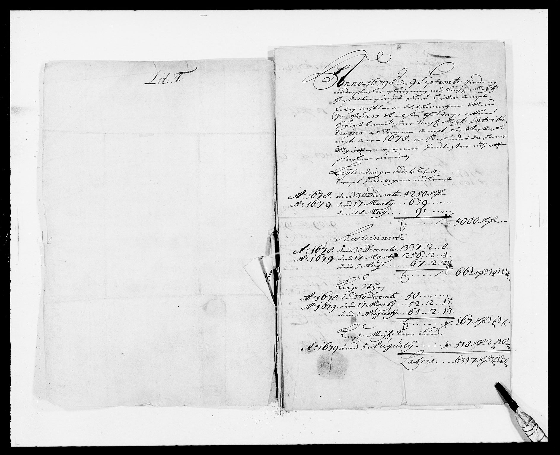 RA, Rentekammeret inntil 1814, Reviderte regnskaper, Fogderegnskap, R41/L2530: Fogderegnskap Lista, 1677-1679, s. 294