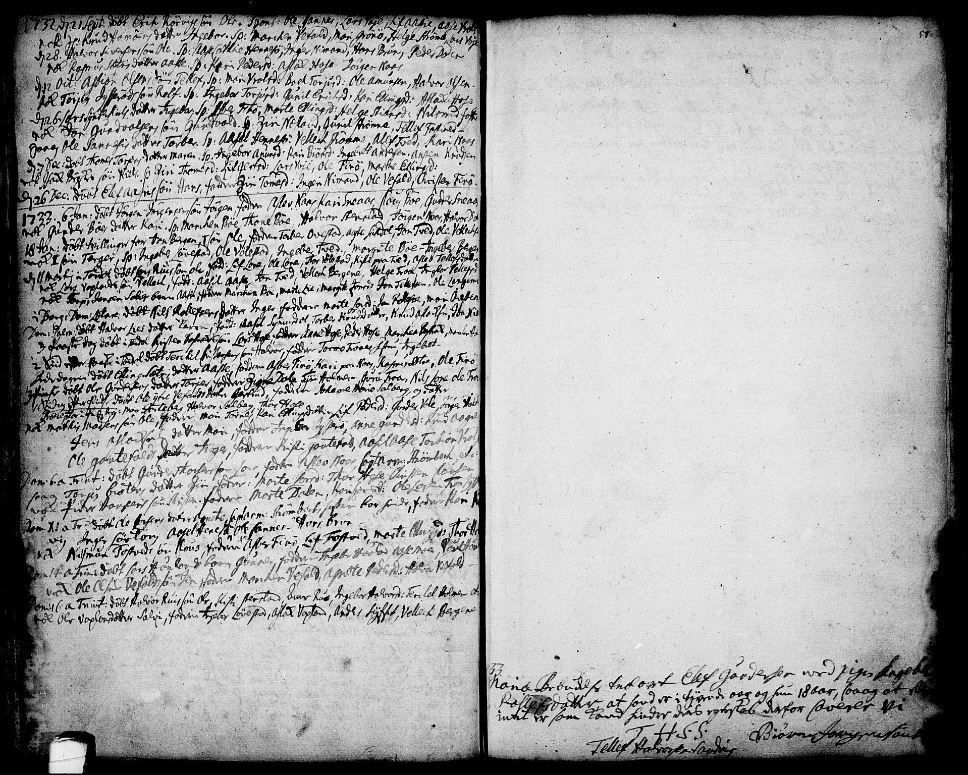 SAKO, Drangedal kirkebøker, F/Fa/L0001: Ministerialbok nr. 1, 1697-1767, s. 58