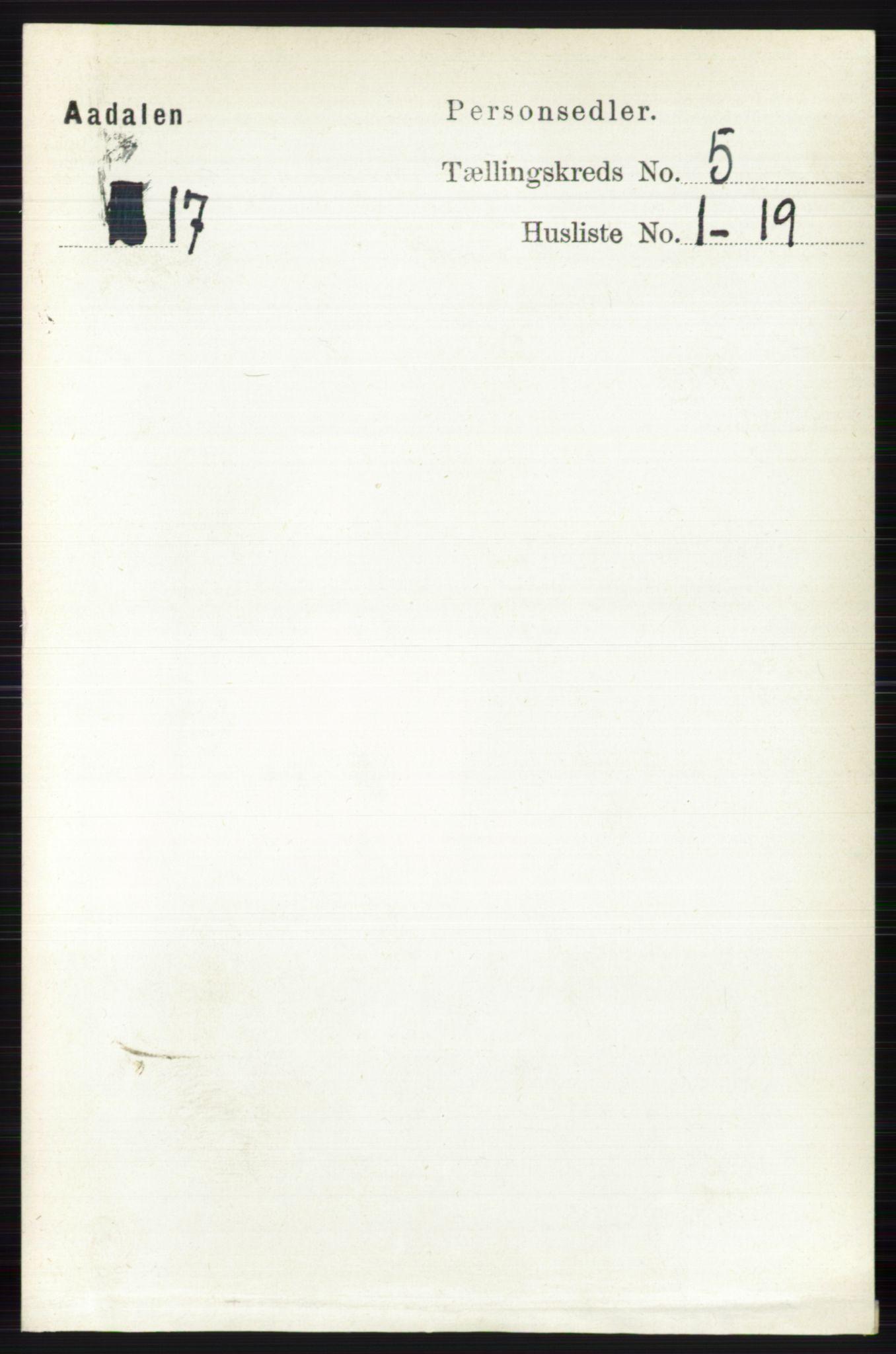 RA, Folketelling 1891 for 0614 Ådal herred, 1891, s. 2012
