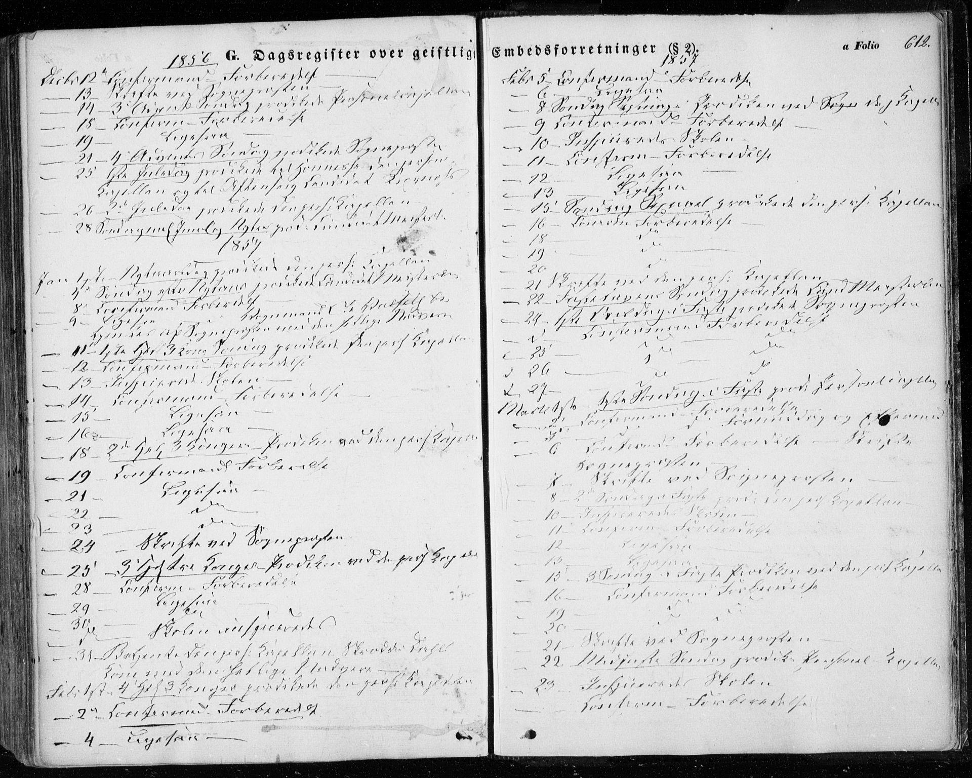 SAT, Ministerialprotokoller, klokkerbøker og fødselsregistre - Sør-Trøndelag, 601/L0051: Ministerialbok nr. 601A19, 1848-1857, s. 612