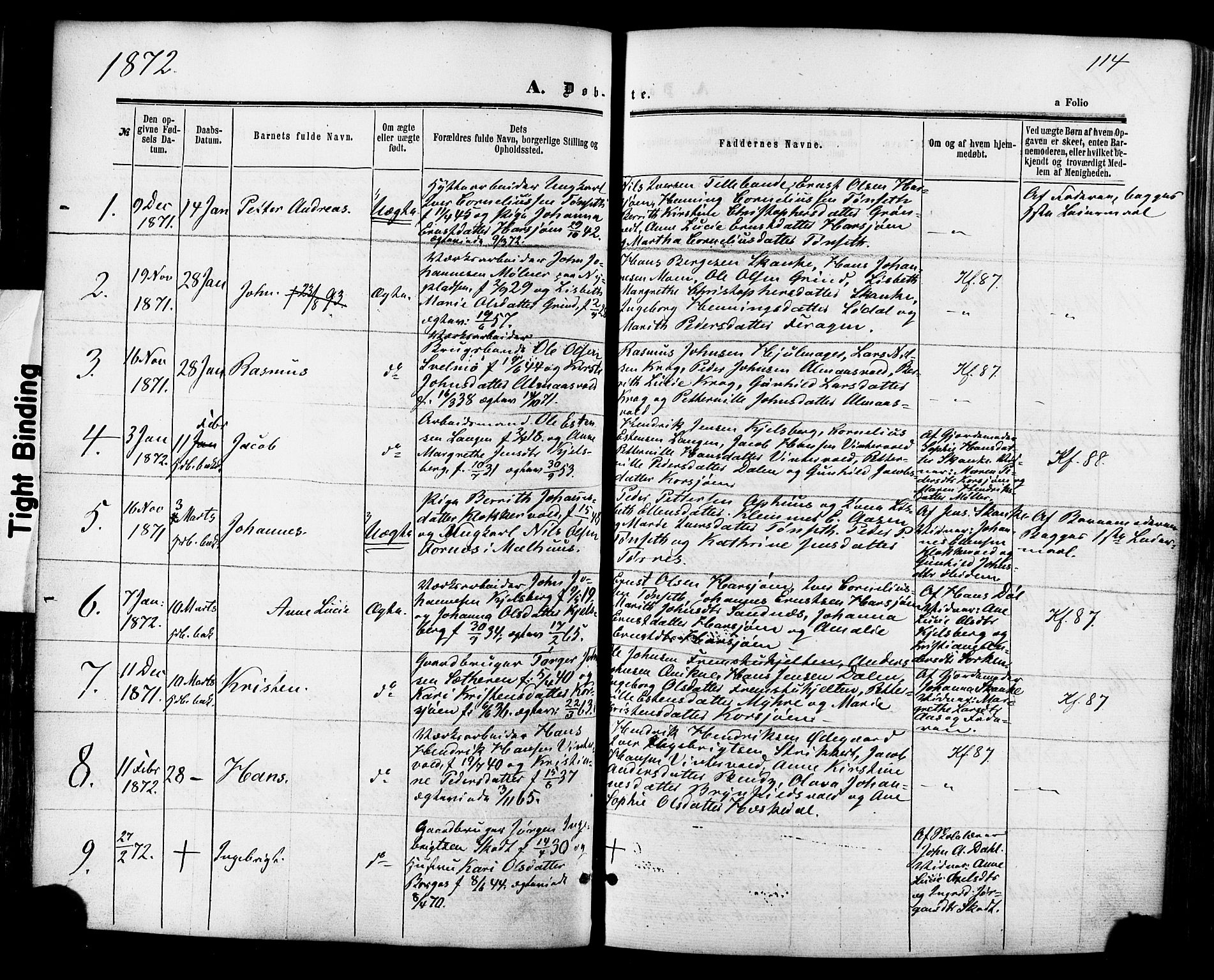 SAT, Ministerialprotokoller, klokkerbøker og fødselsregistre - Sør-Trøndelag, 681/L0932: Ministerialbok nr. 681A10, 1860-1878, s. 114