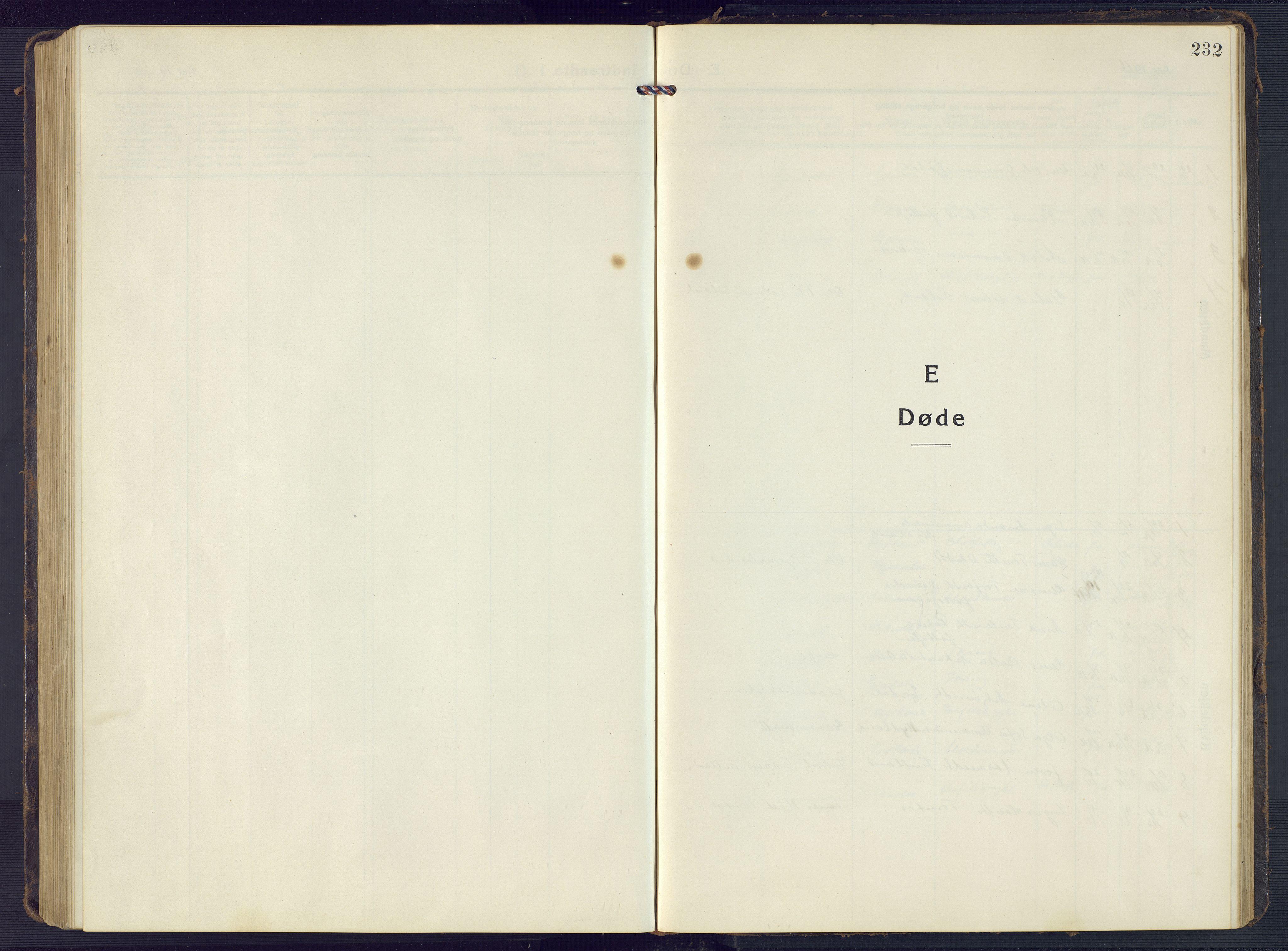 SAK, Sirdal sokneprestkontor, F/Fb/Fbb/L0005: Klokkerbok nr. B 5, 1916-1960, s. 232