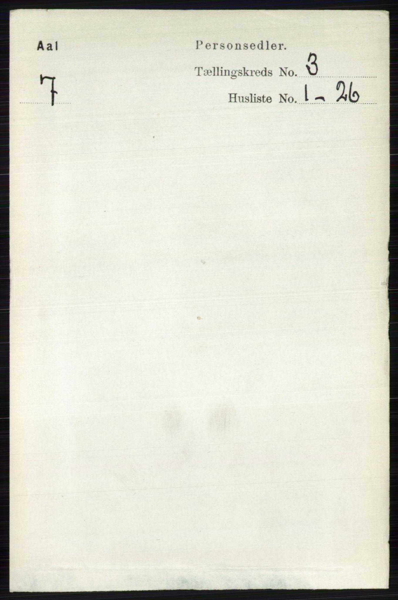 RA, Folketelling 1891 for 0619 Ål herred, 1891, s. 654