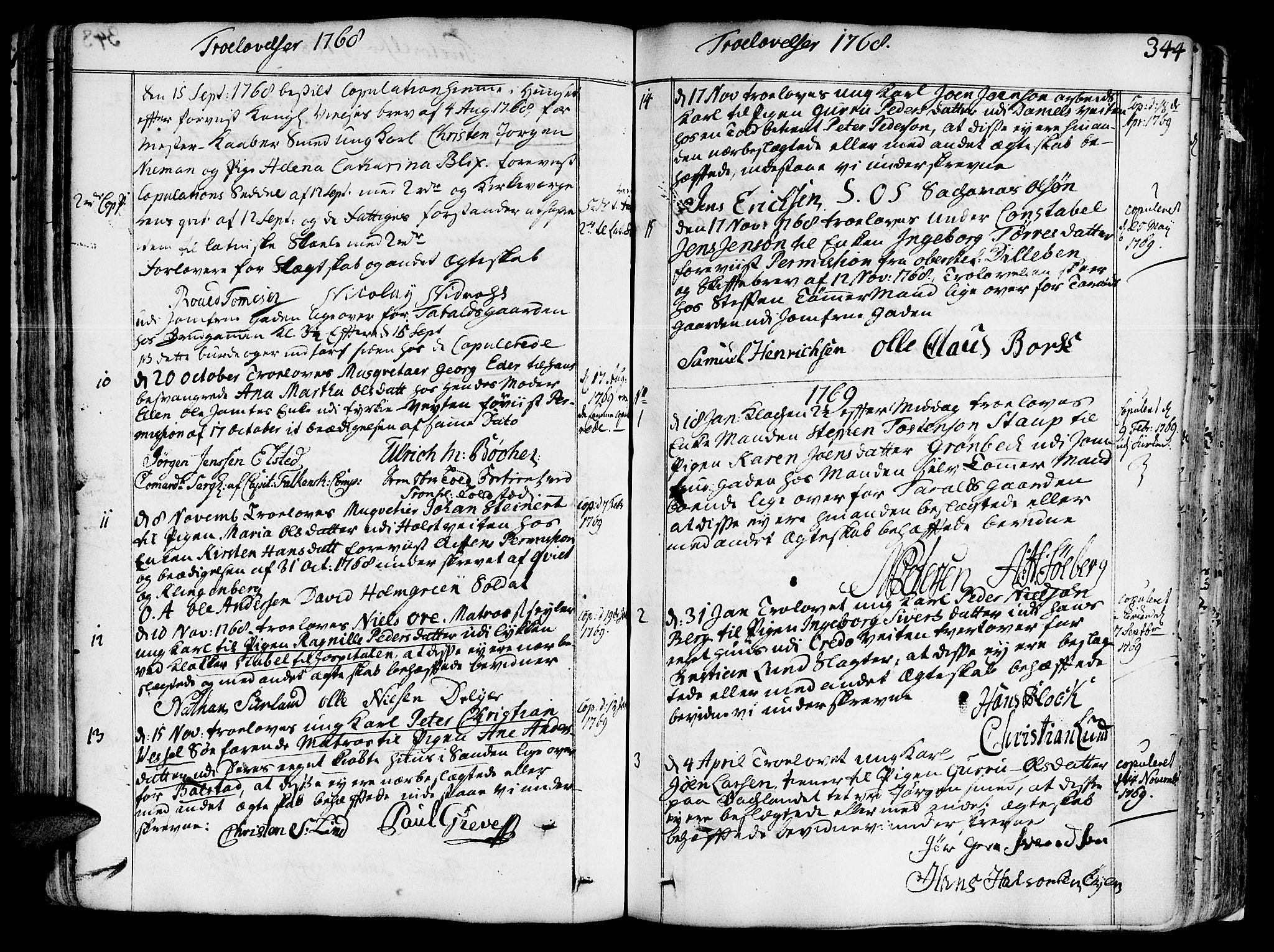 SAT, Ministerialprotokoller, klokkerbøker og fødselsregistre - Sør-Trøndelag, 602/L0103: Ministerialbok nr. 602A01, 1732-1774, s. 344