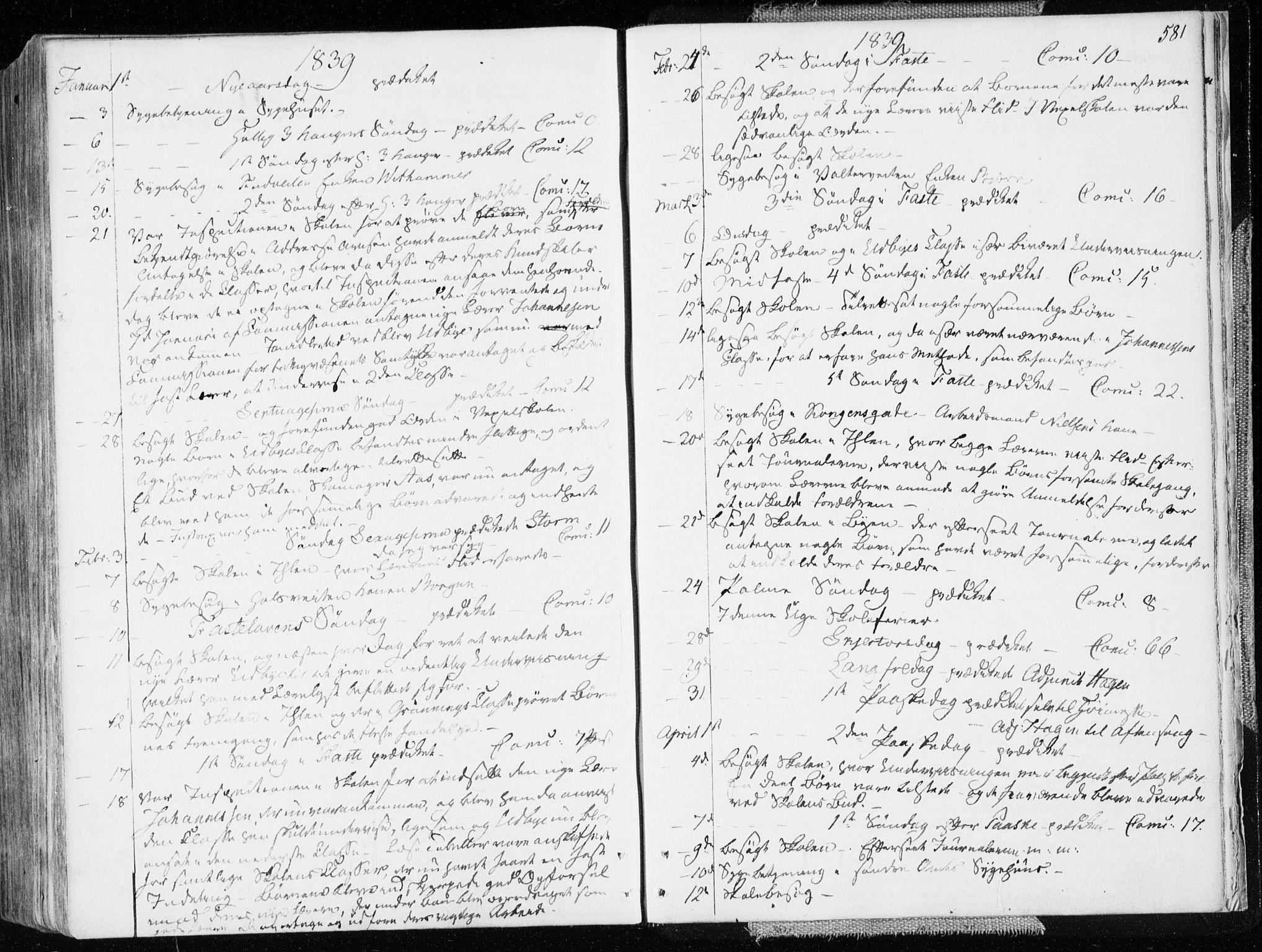 SAT, Ministerialprotokoller, klokkerbøker og fødselsregistre - Sør-Trøndelag, 601/L0047: Ministerialbok nr. 601A15, 1831-1839, s. 581