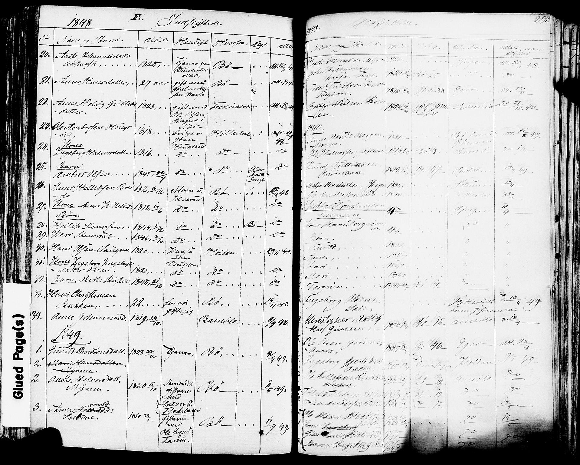 SAKO, Sauherad kirkebøker, F/Fa/L0006: Ministerialbok nr. I 6, 1827-1850, s. 393